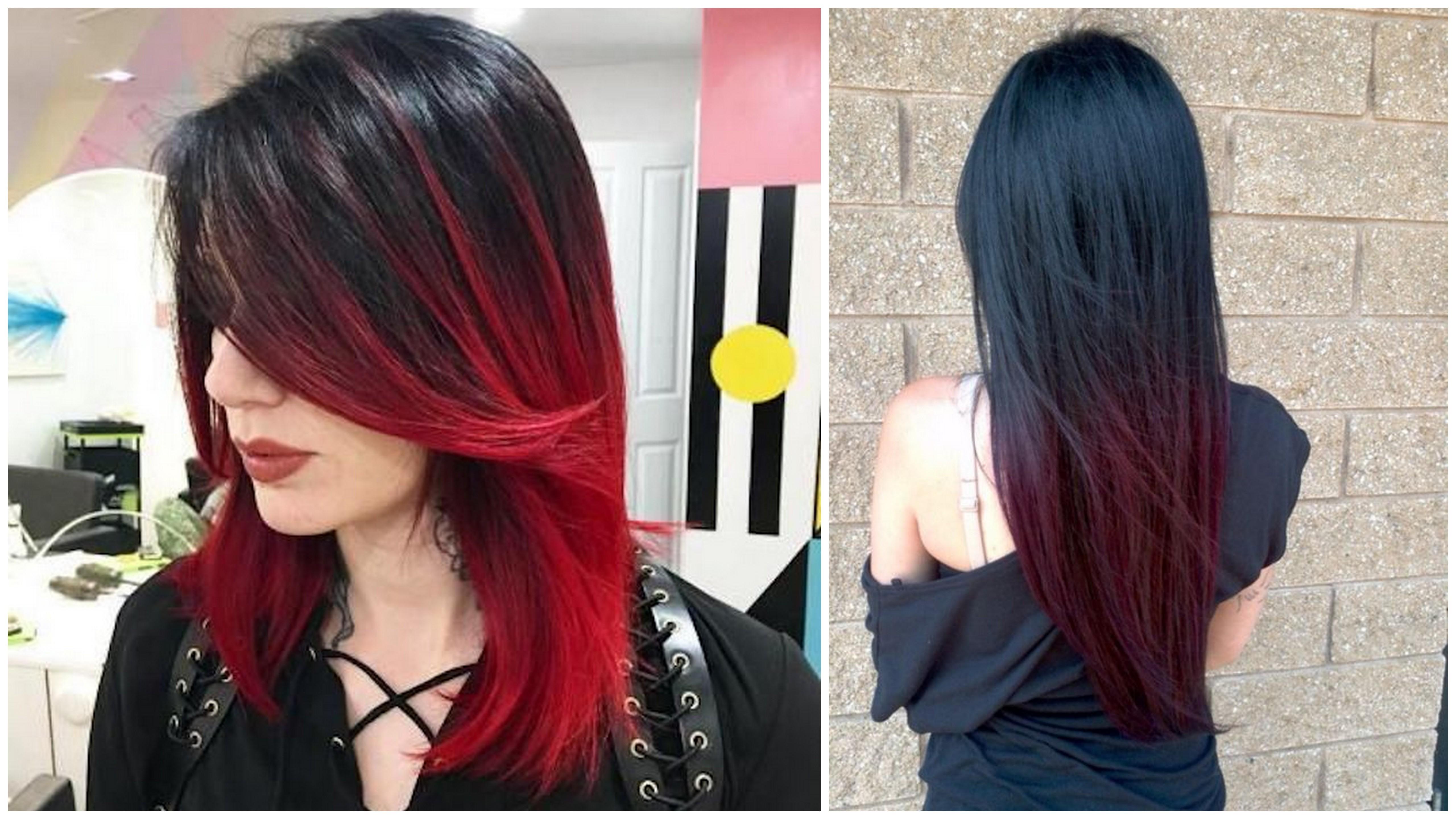 shatush rosso capelli neri