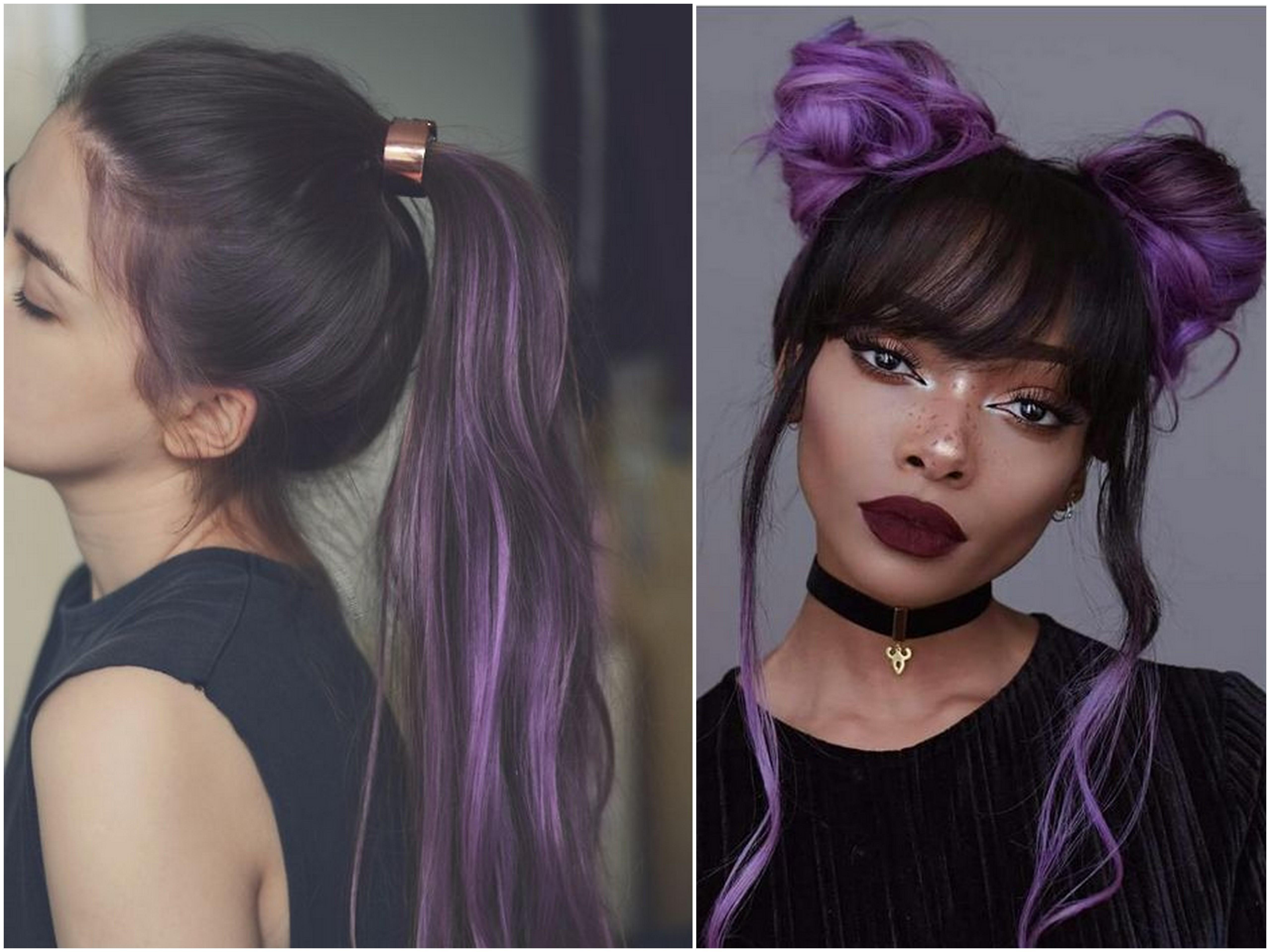 shatush viola capelli castani