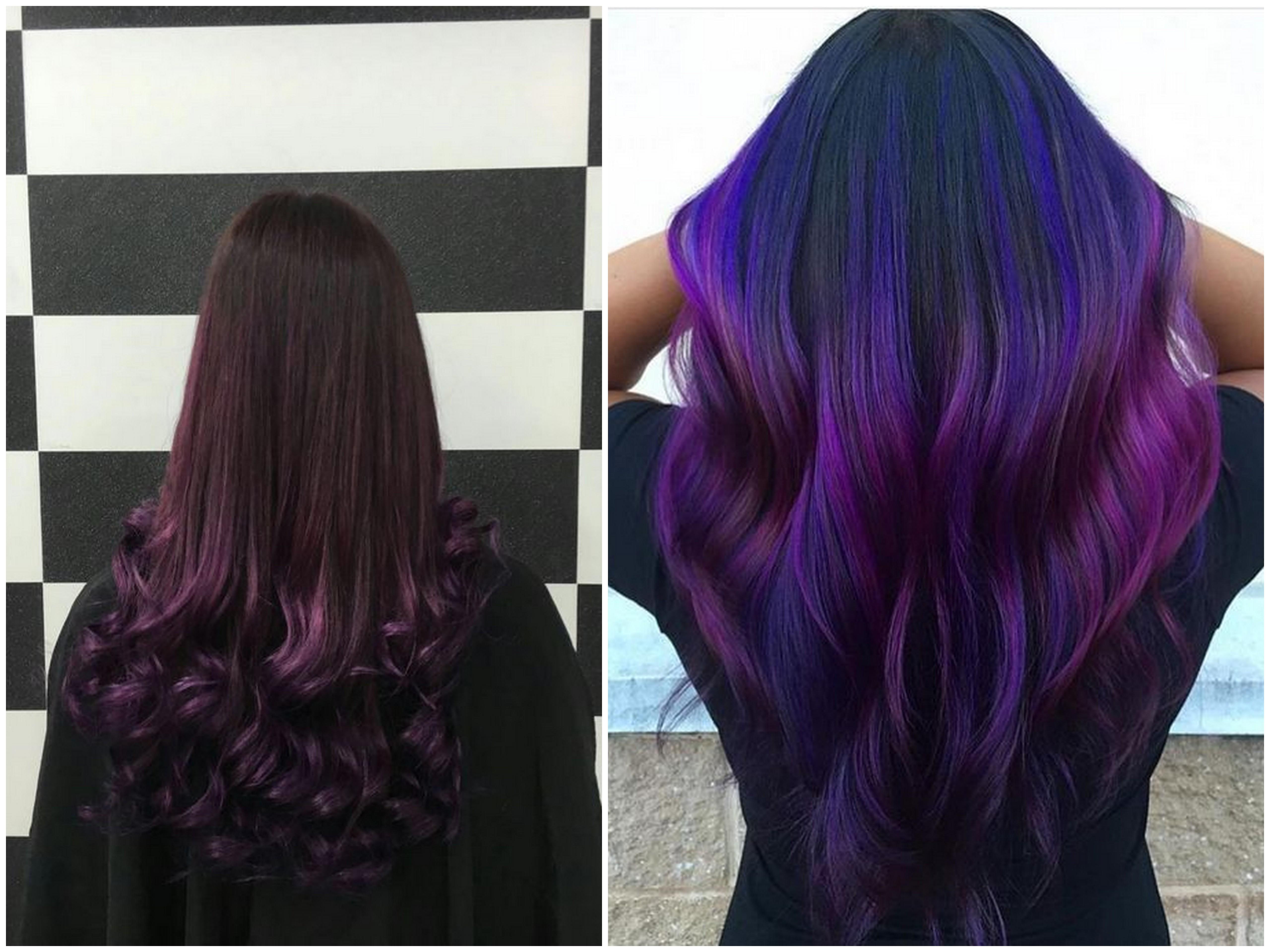 Shatush viola per capelli castani e neri  le tonalità più belle e ... 77a7ec7d2b49