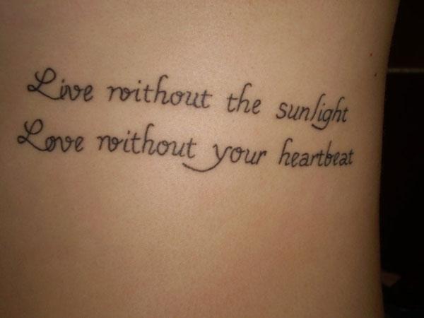 tatuaggio frase amore inglese
