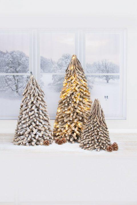 Addobbi albero di Natale legno