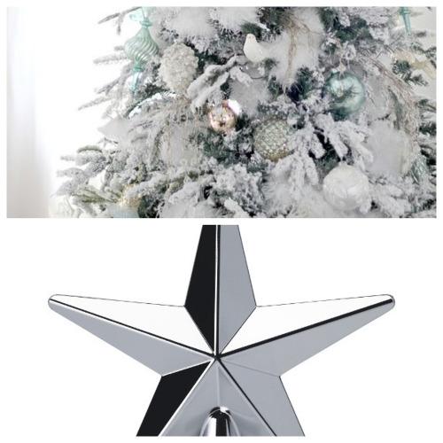 Albero di Natale bianco e argento