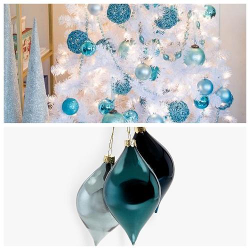 Albero di Natale bianco e blu