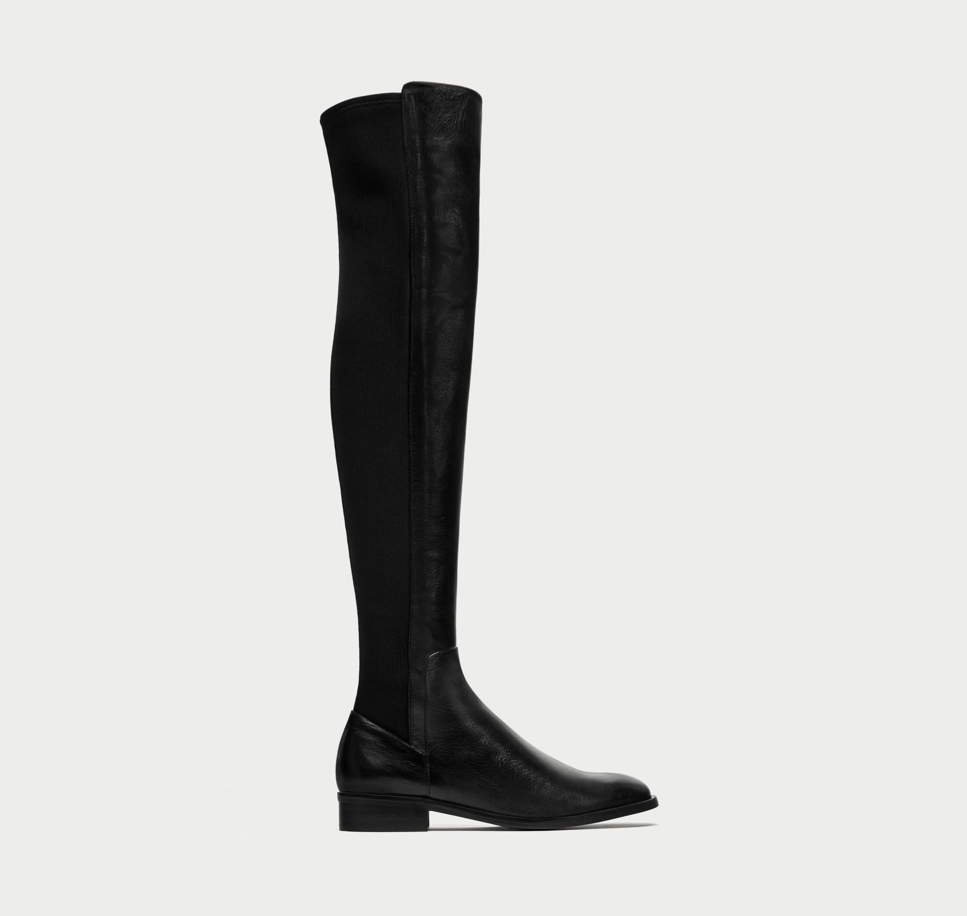 Stivali cuissard sopra il ginocchio Zara scarpe saldi invernali 2018