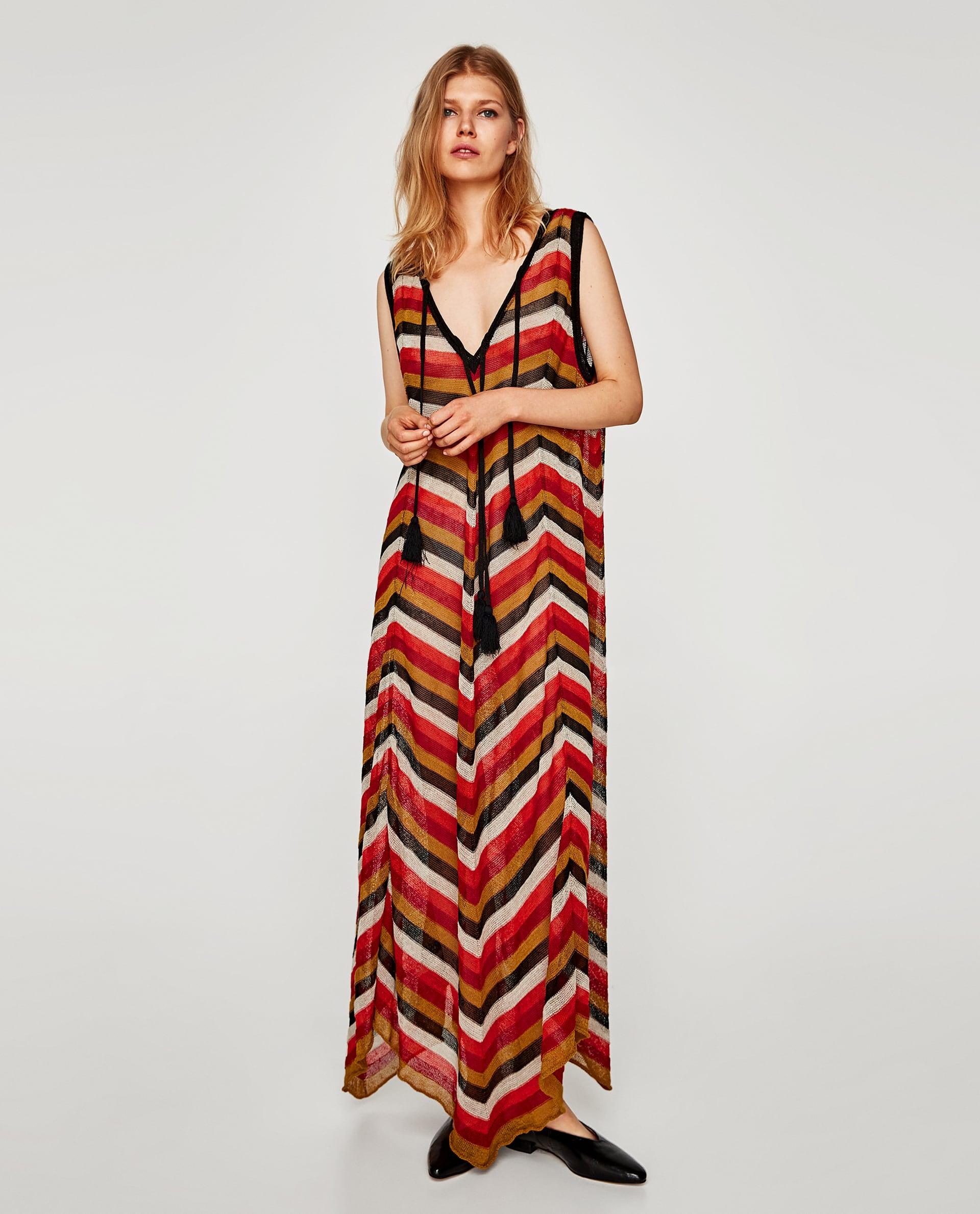 Vestito lunghissimo multicolor Zara