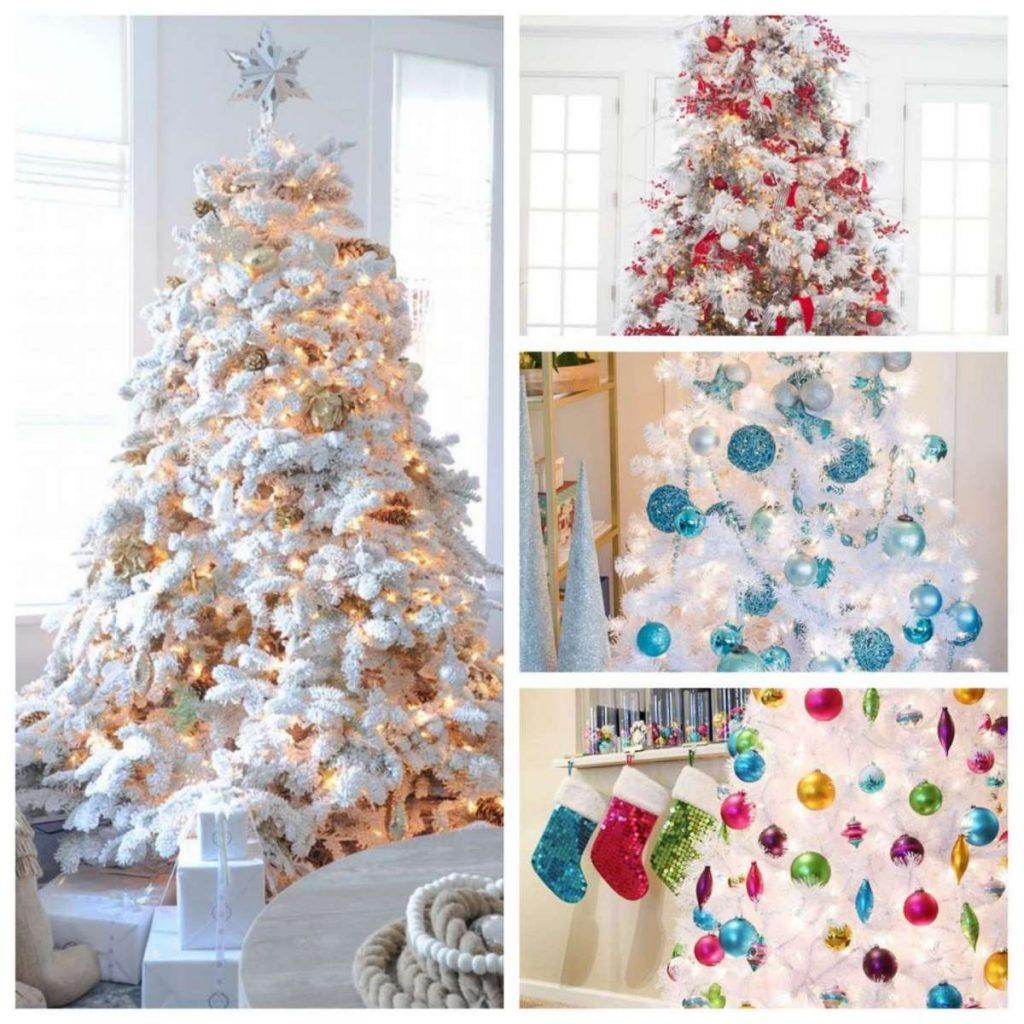 Foto Alberi Di Natale Bianchi albero di natale bianco: gli addobbi natalizi più belli