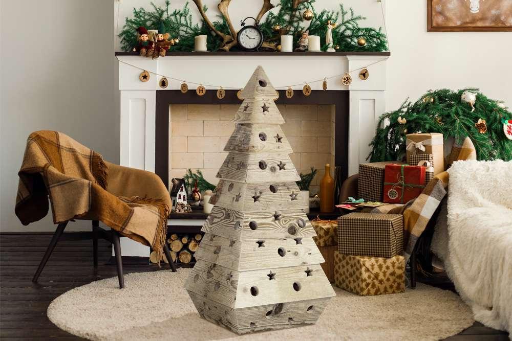 Alberi Di Natale In Legno Addobbati : Alberi di natale in legno i più belli e originali pourfemme