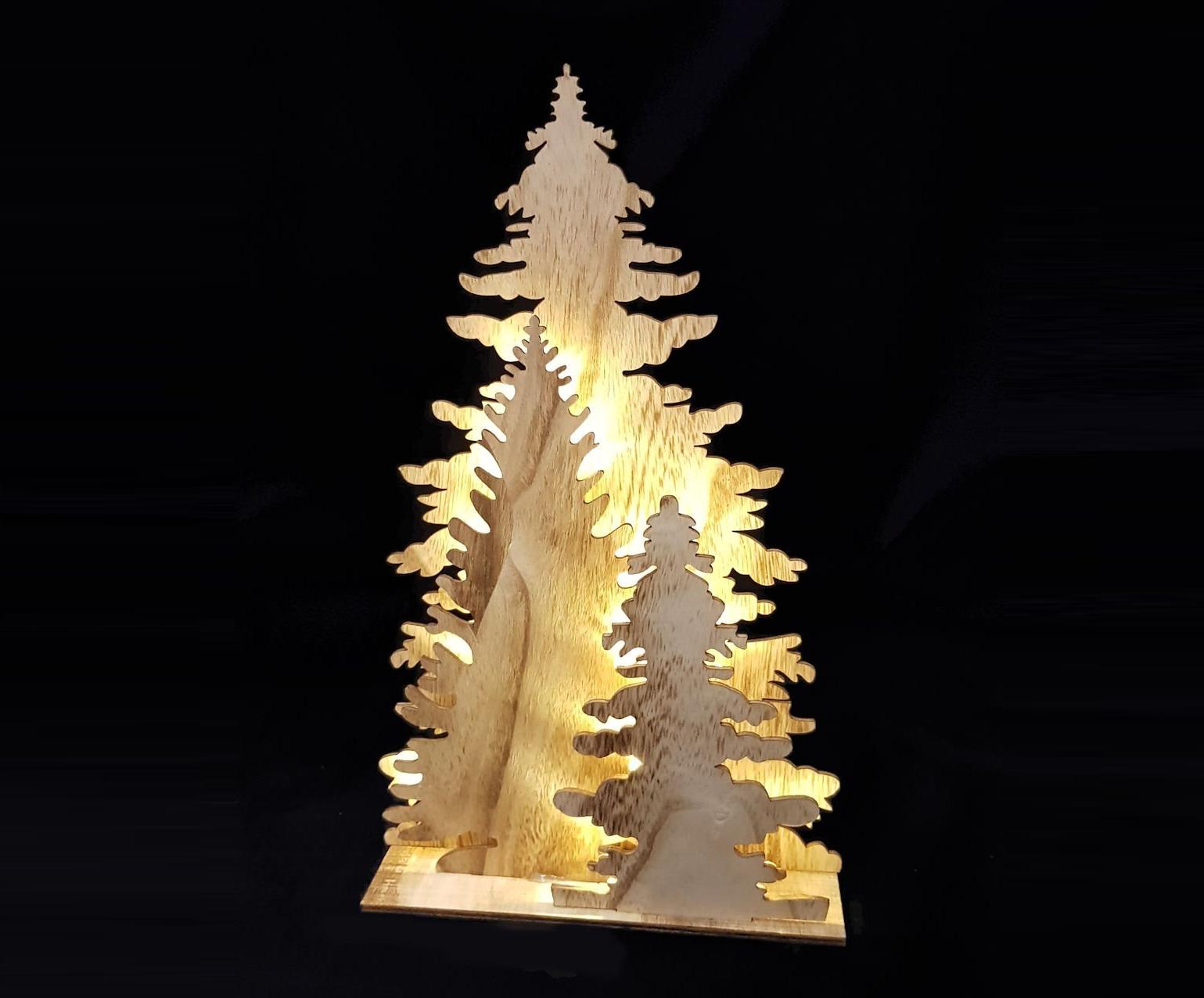 Alberi Di Natale In Legno Da Appendere : Alberi di natale in legno i più belli e originali pourfemme