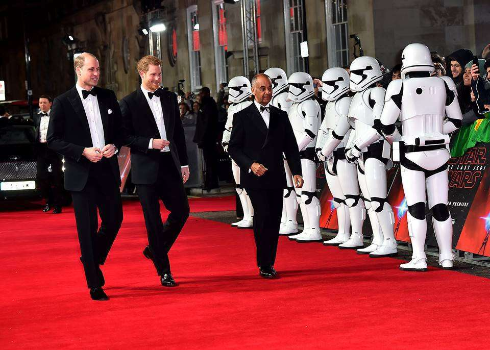 William e Harry, uscita da single alla prima di 'Star Wars: Gli Ultimi Jedi'