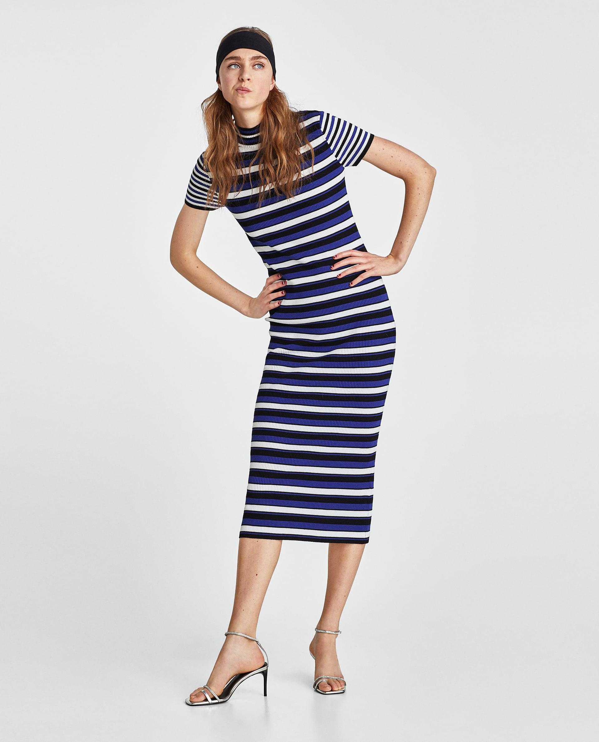 Abito a costine a righe Zara collezione primavera estate 2018