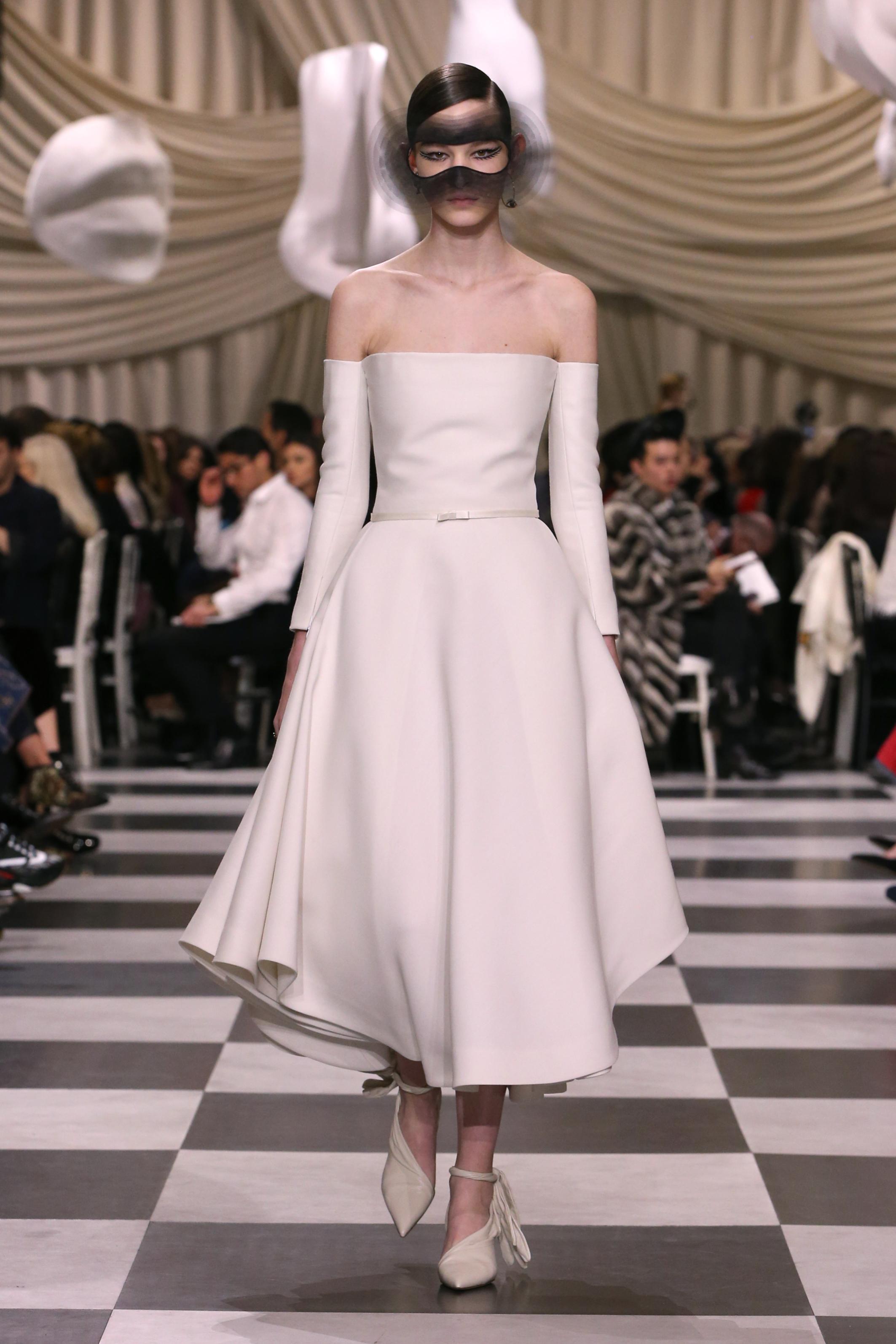 Abito da sposa midi Dior haute couture primavera estate 2018