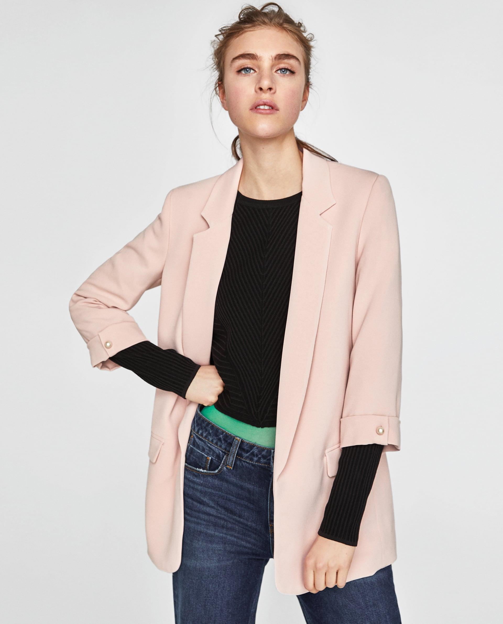 Blazer rosa lungo Zara collezione primavera estate 2018