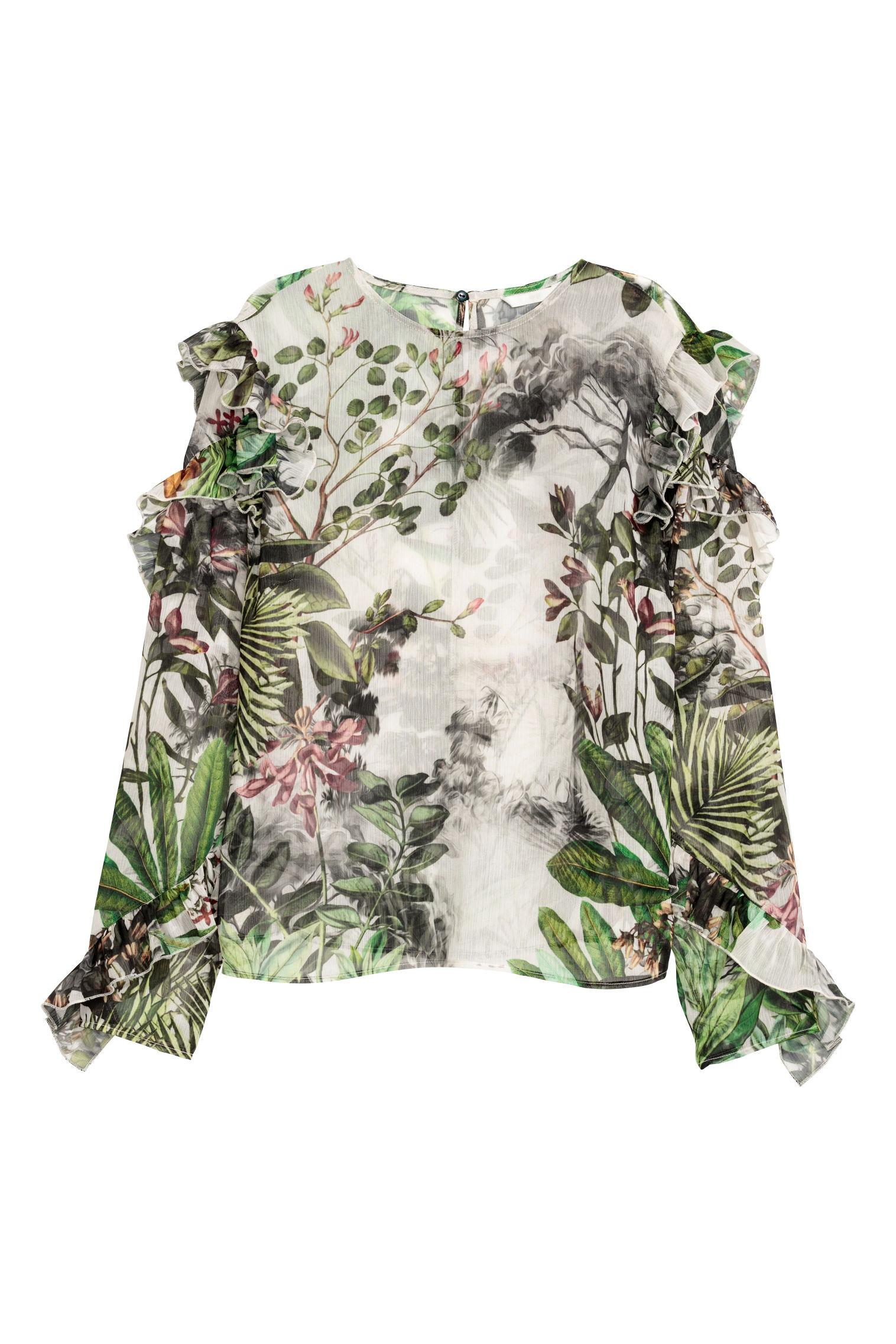 Blusa a fantasia H&M collezione primavera estate 2018