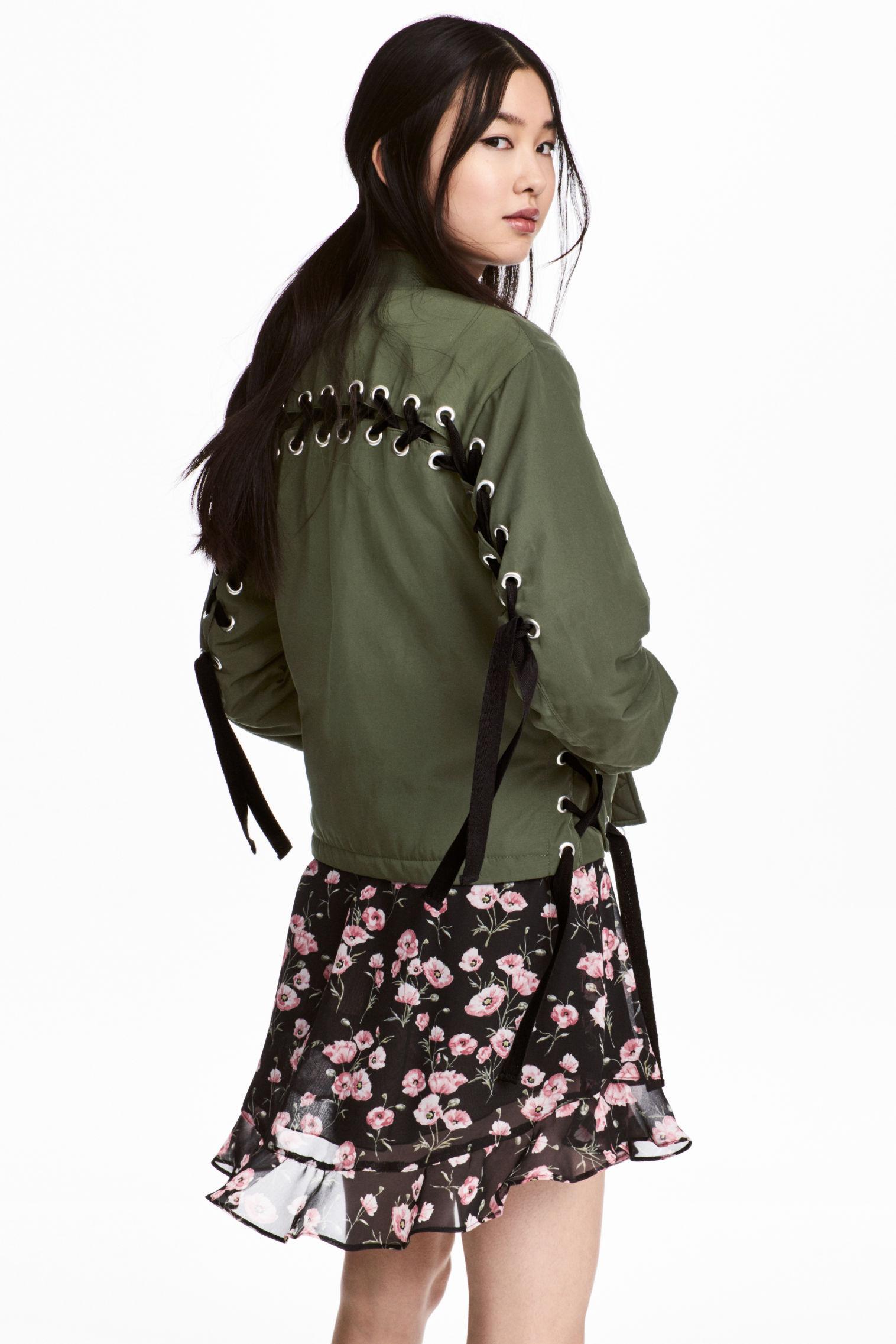 Bomber con lacci H&M collezione primavera estate 2018