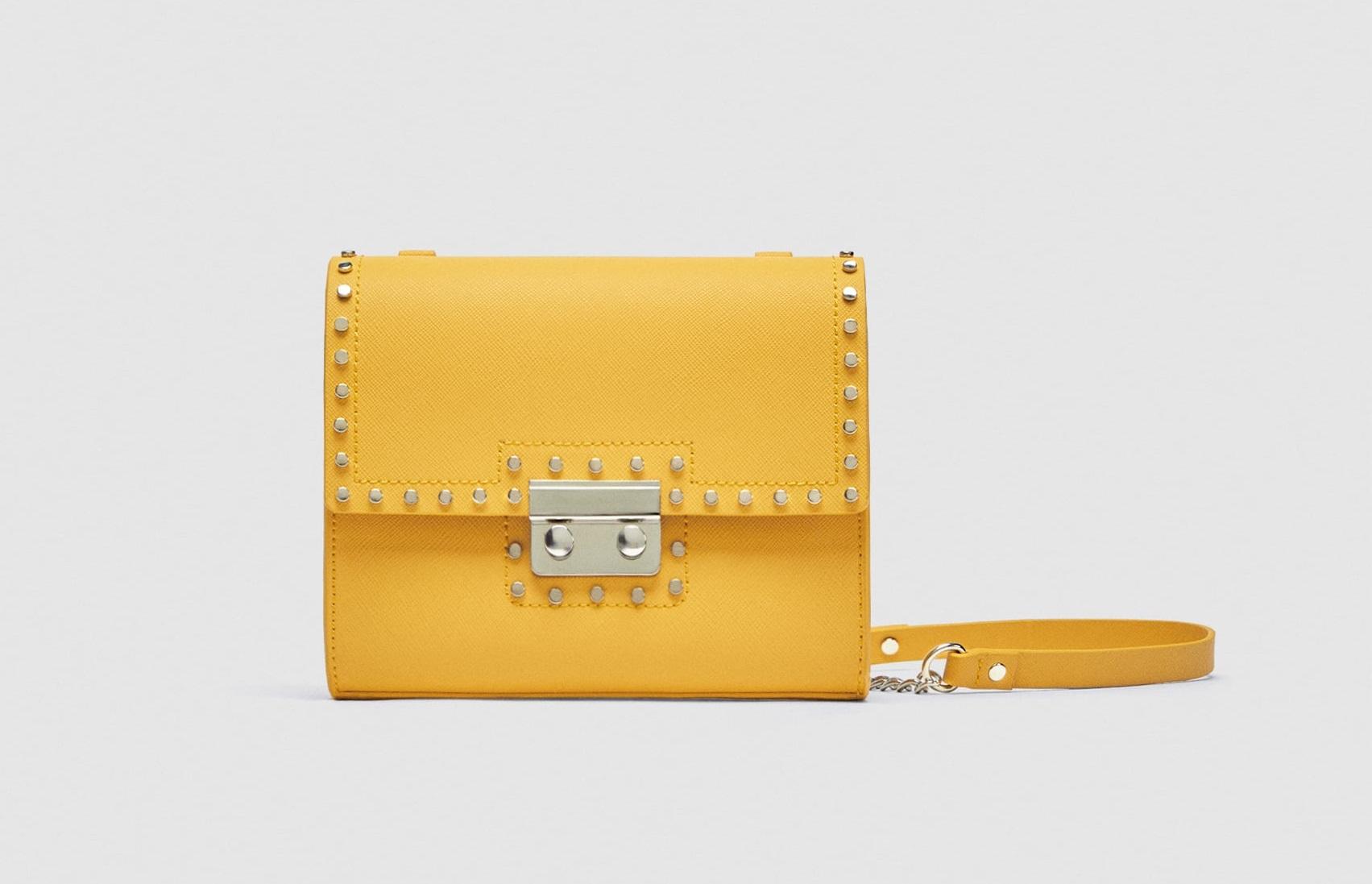 Borsa Zara a tracolla gialla collezione primavera estate 2018