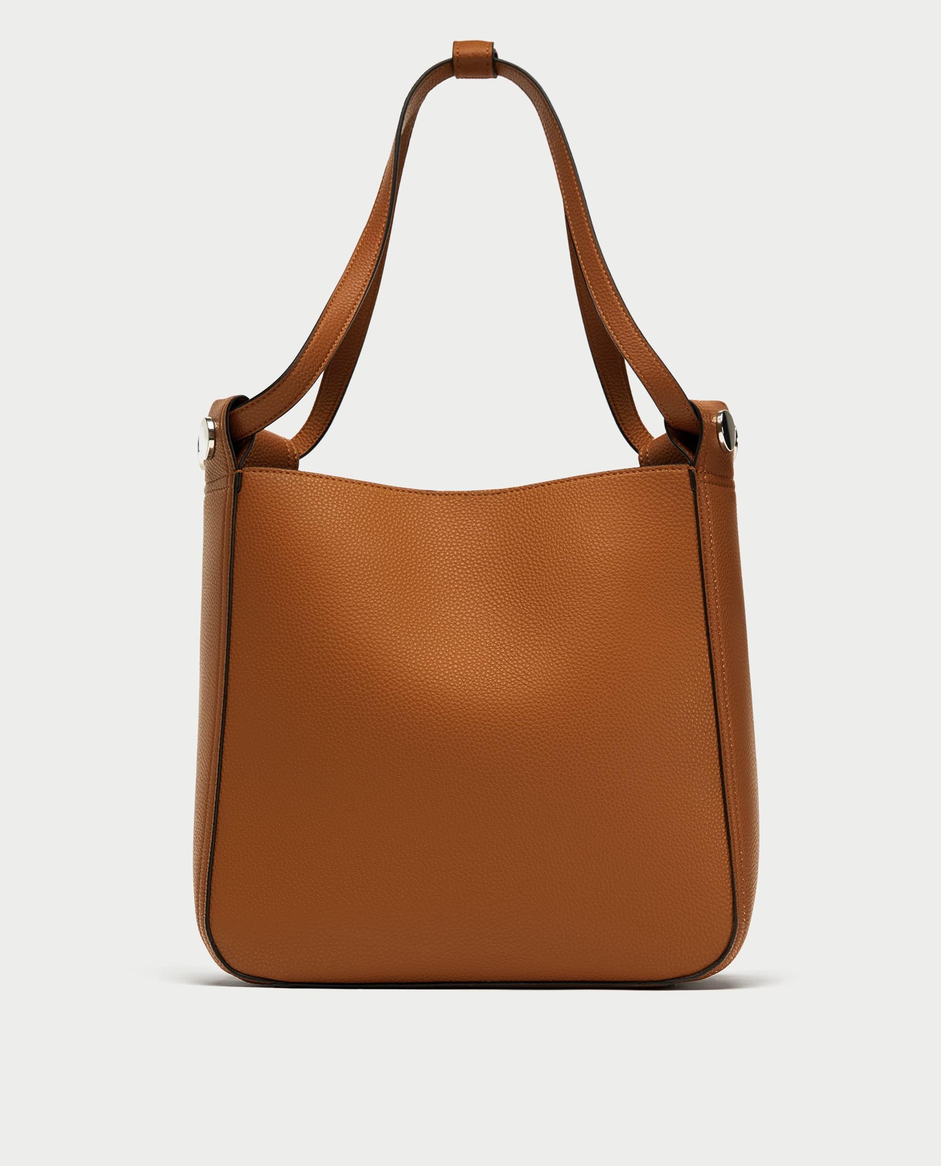 Borsa a spalla con borchie Zara collezione primavera estate 2018