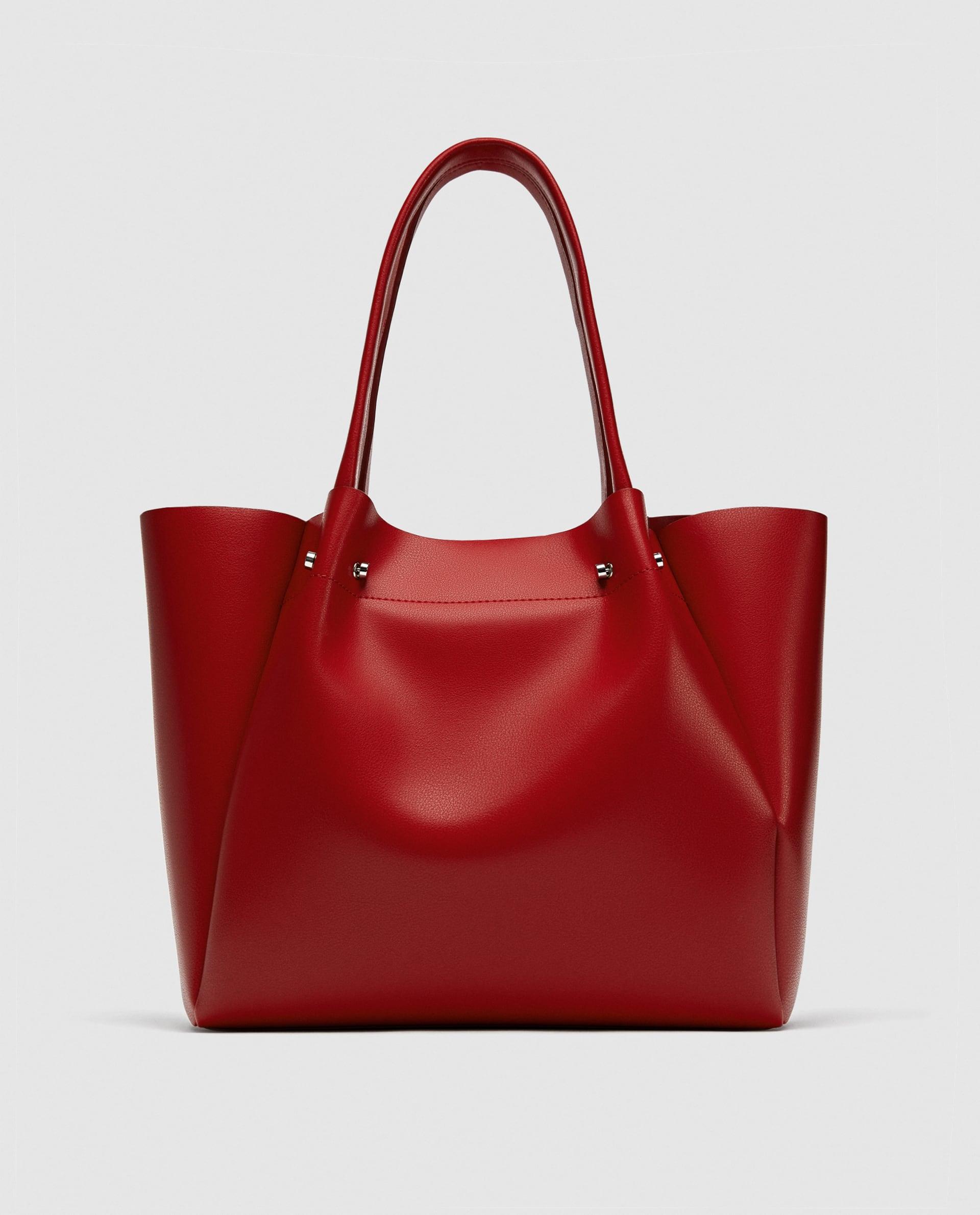Borsa a spalla rossa Zara collezione primavera estate 2018