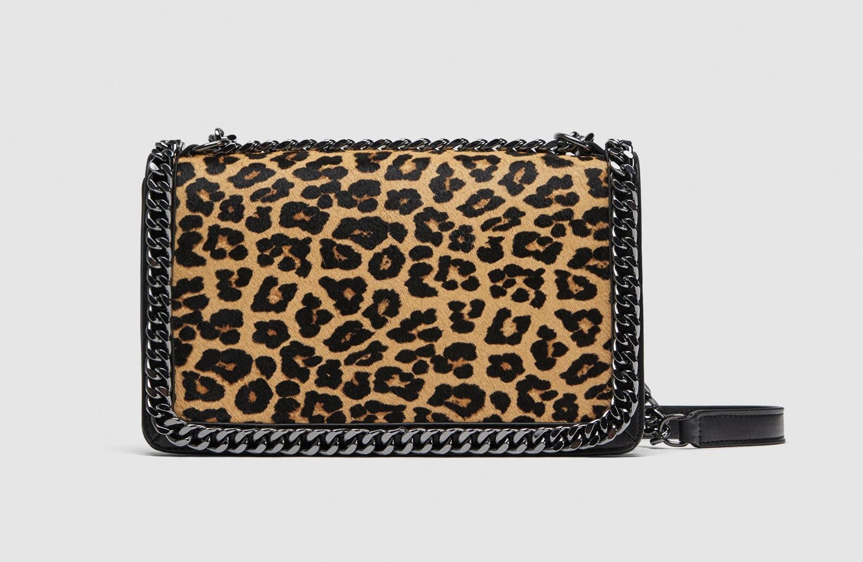Borsa a tracolla animalier Zara collezione primavera estate 2018