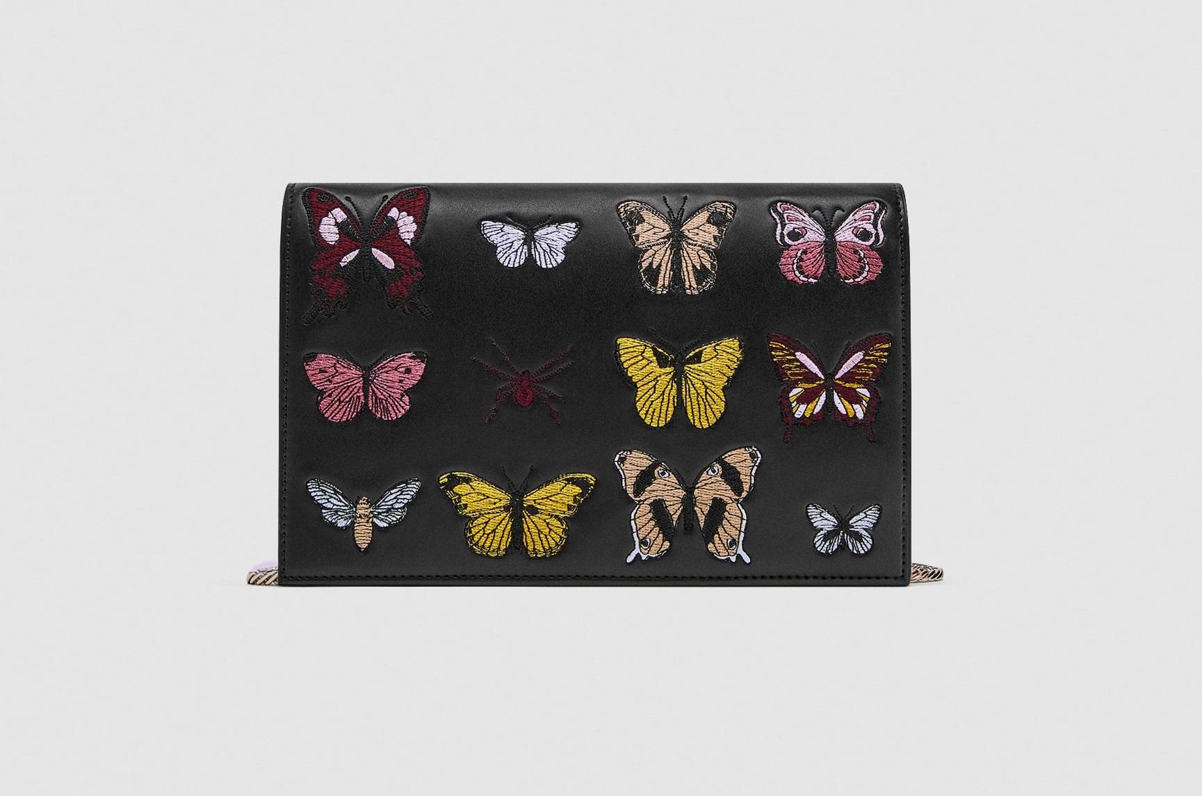 Borsa a tracolla con farfalle Zara collezione primavera estate 2018