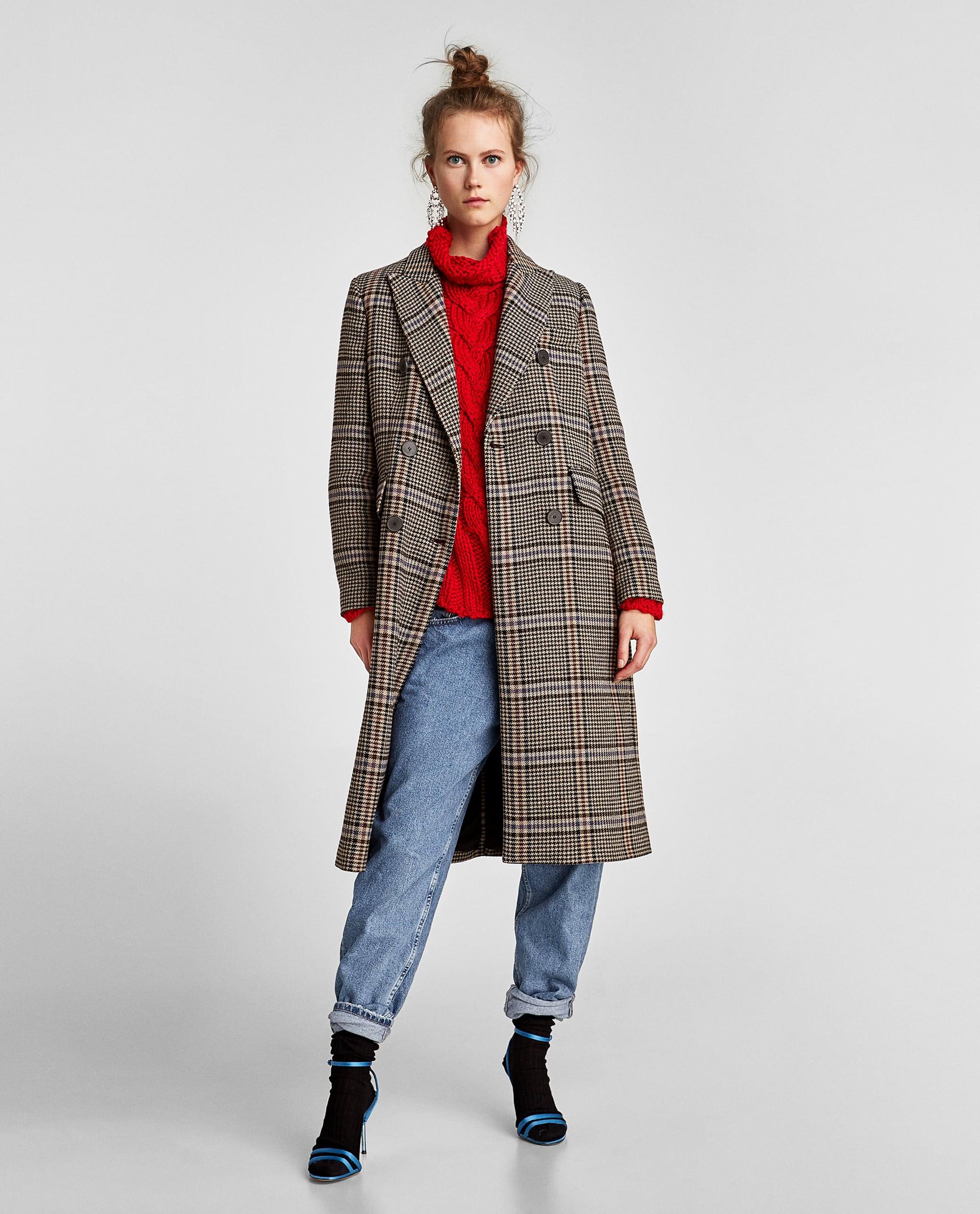 Cappotto a quadri Zara saldi invernali 2018