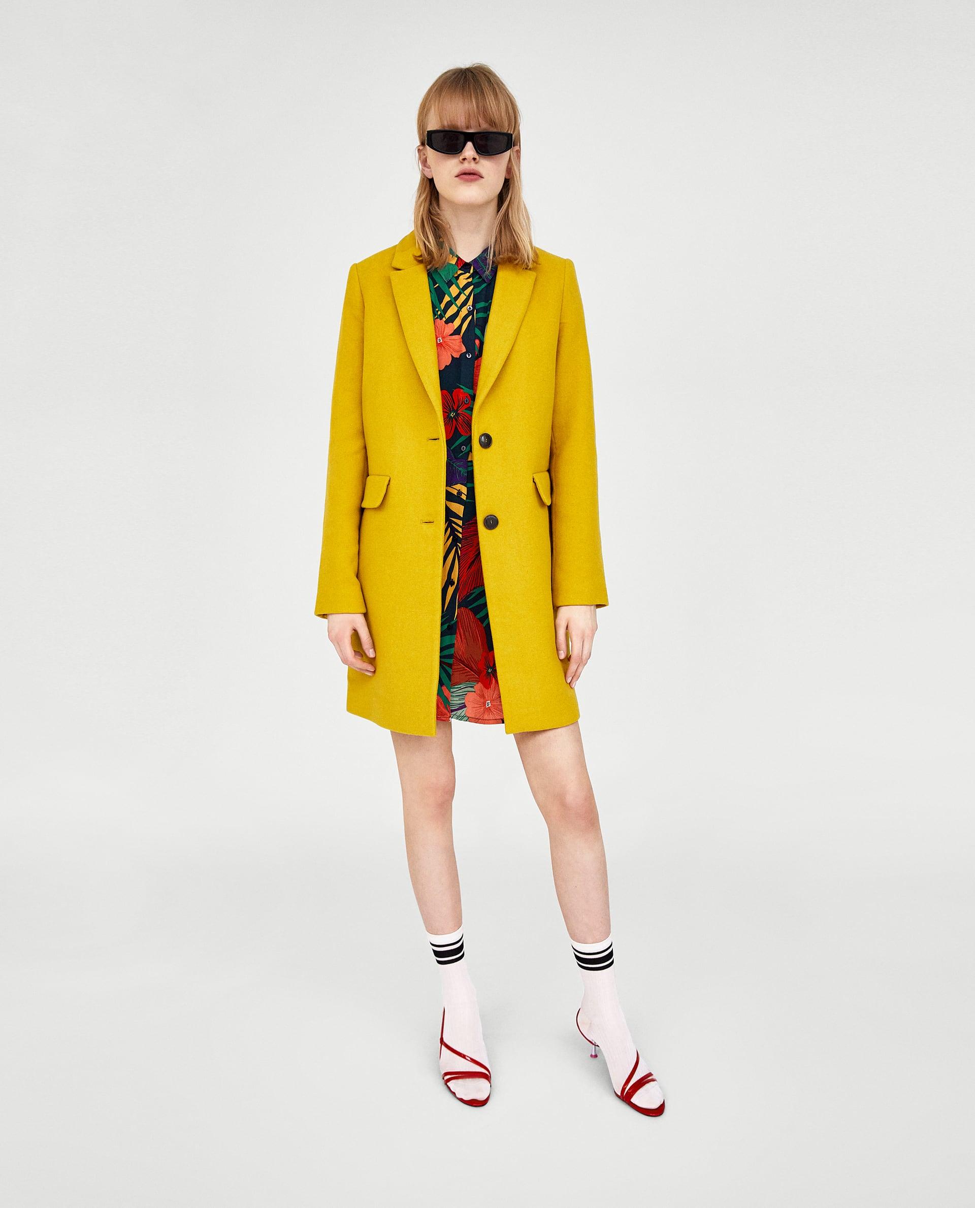 Cappotto giallo Zara collezione primavera estate 2018