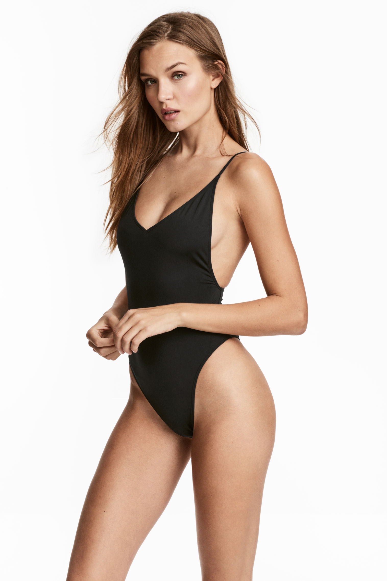 Costume da bagno nero sgambato H&M collezione 2018