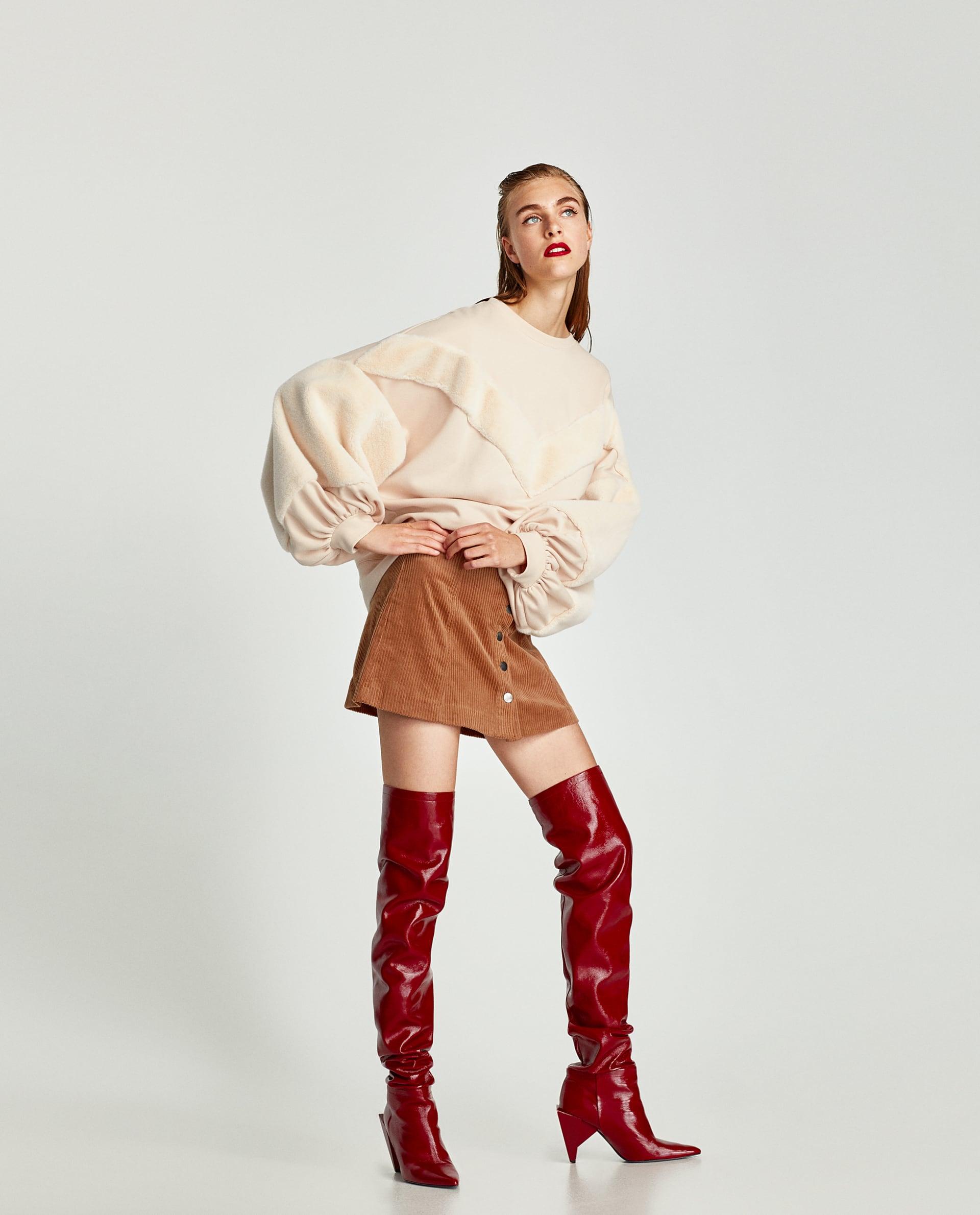 Felpa oversize Zara saldi invernali 2018