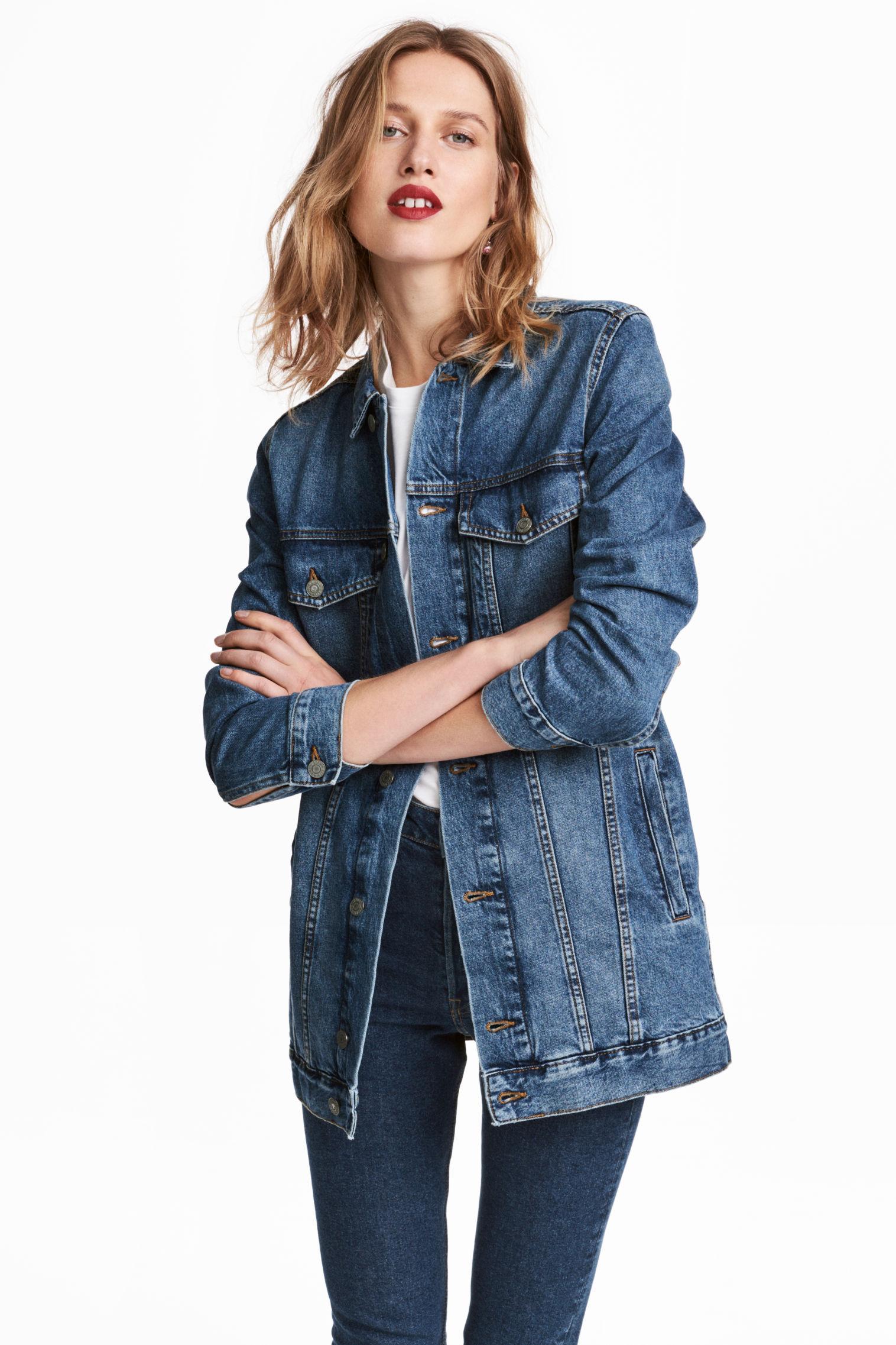 Giacca di jeans lunga H&M collezione primavera estate 2018