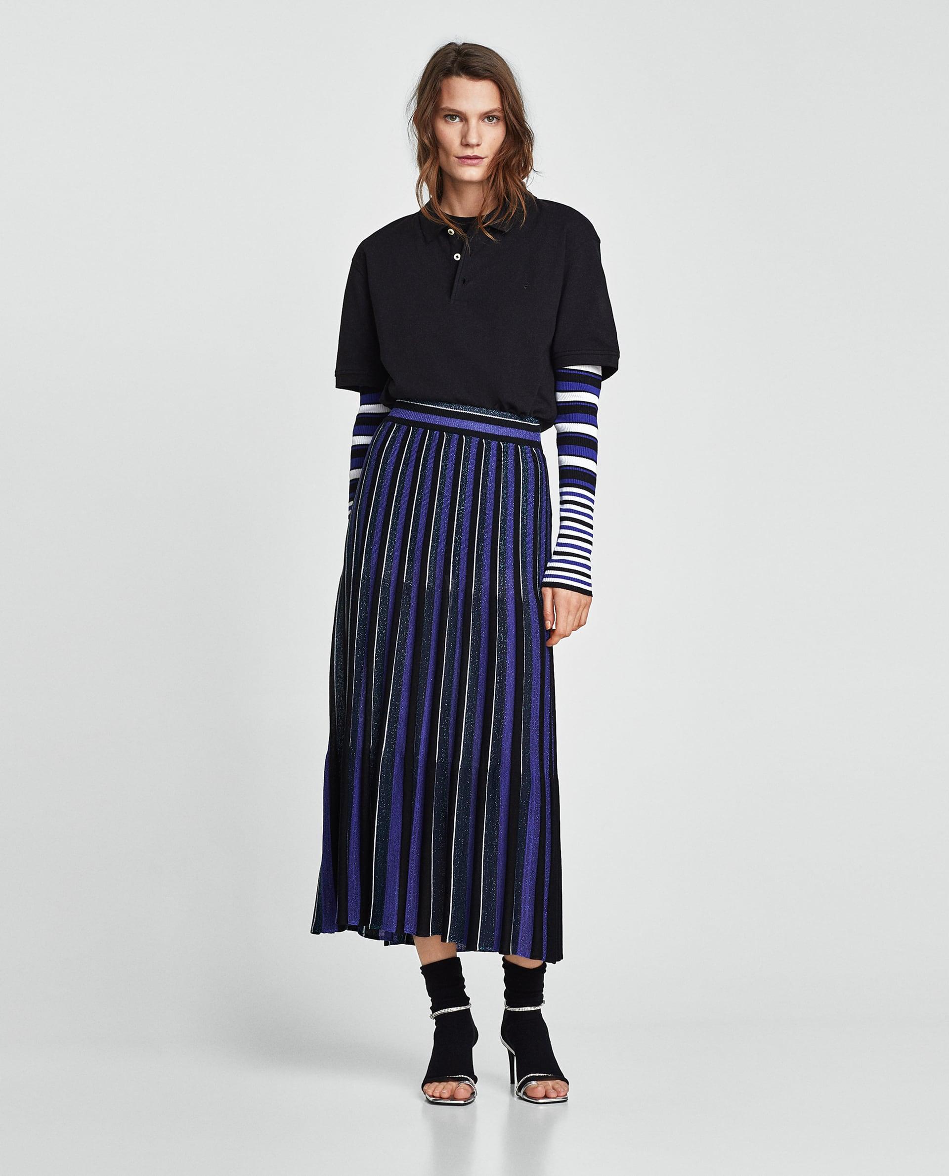 Gonna lungha plissè Zara collezione primavera estate 2018