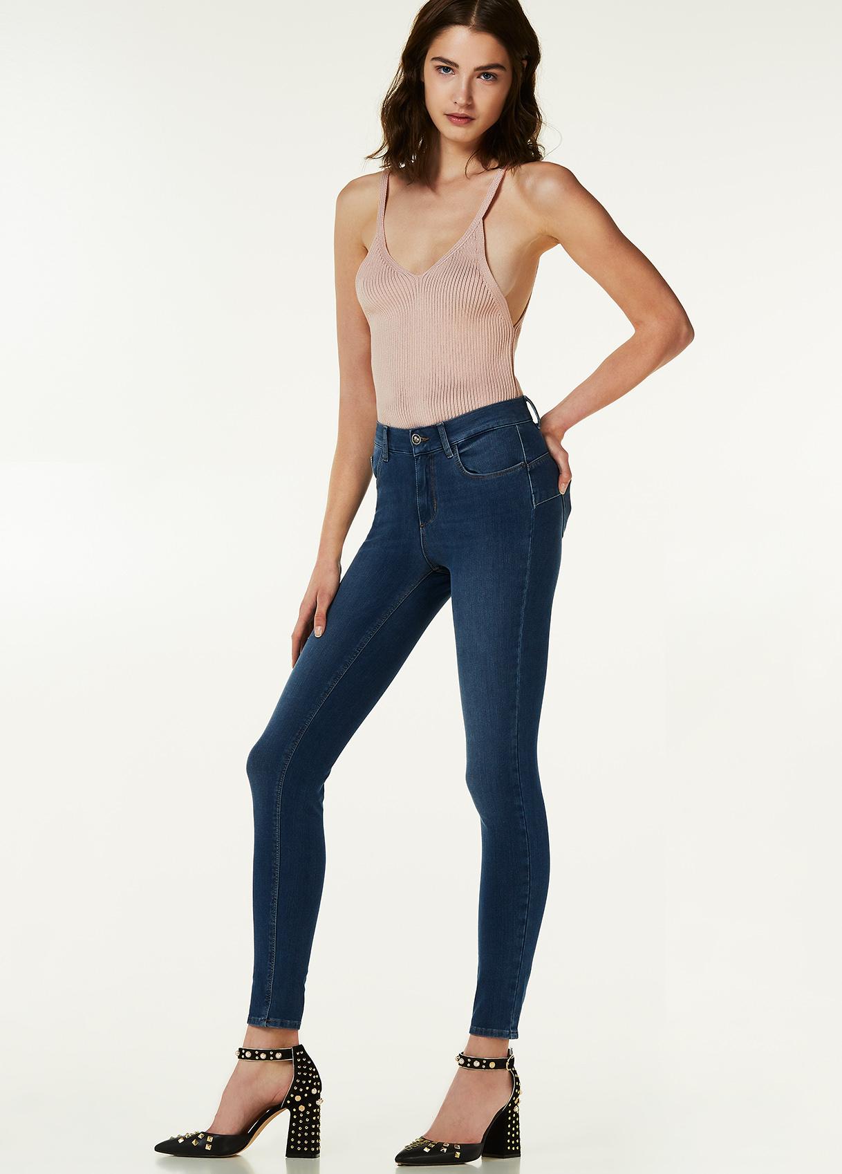Jeans a vita alta Liu Jo collezione primavera estate 2018