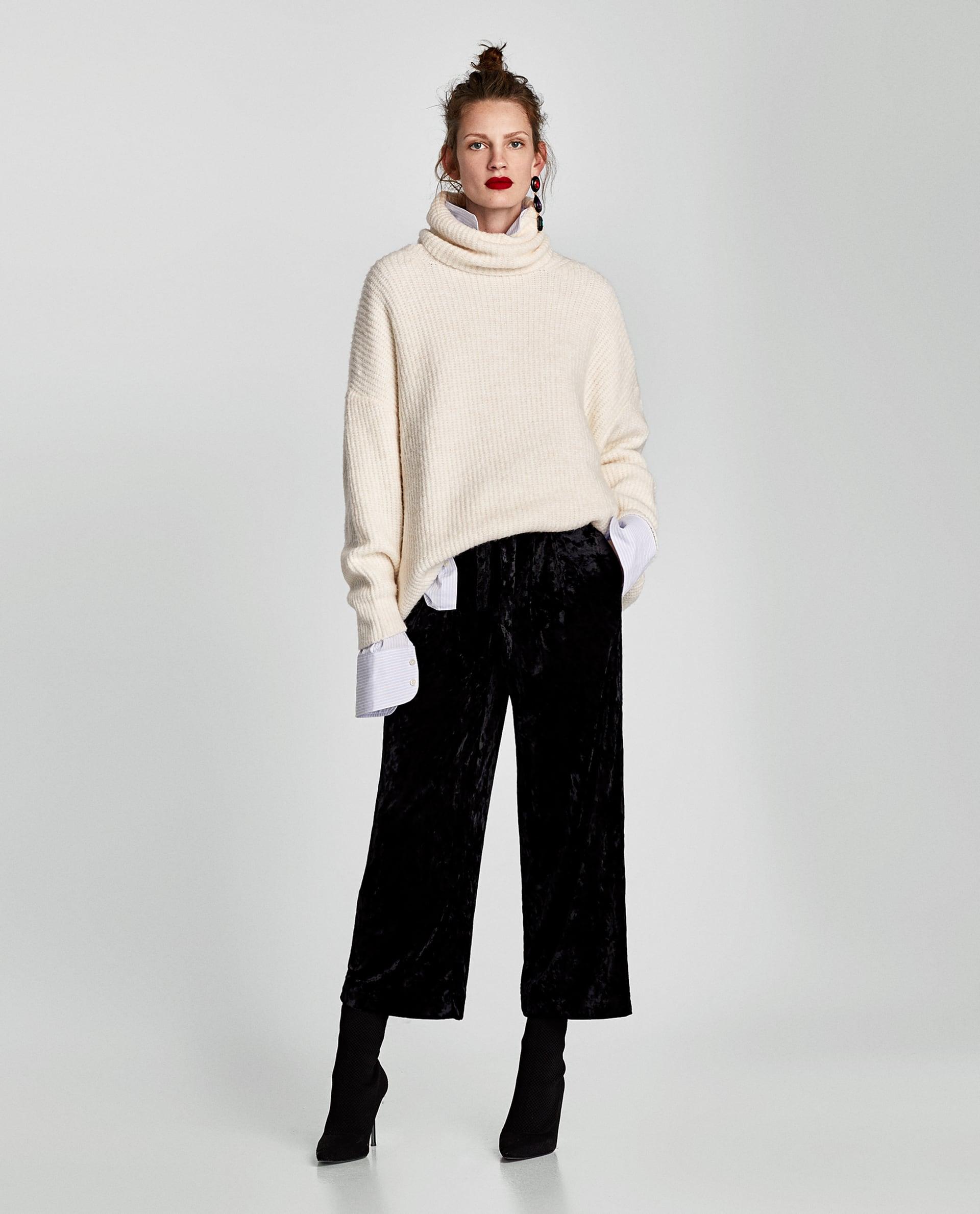 Pantaloni culotte in velluto Zara saldi invernali 2018