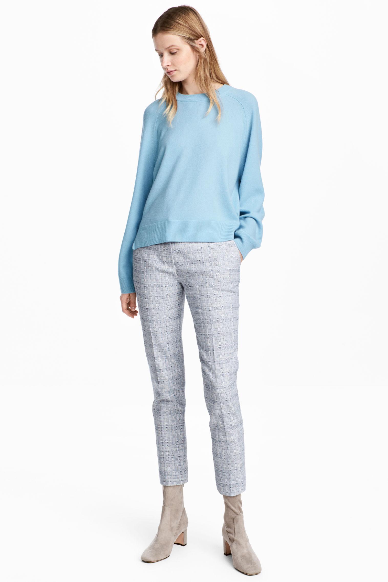 Pantaloni eleganti grigi H&M collezione primavera estate 2018