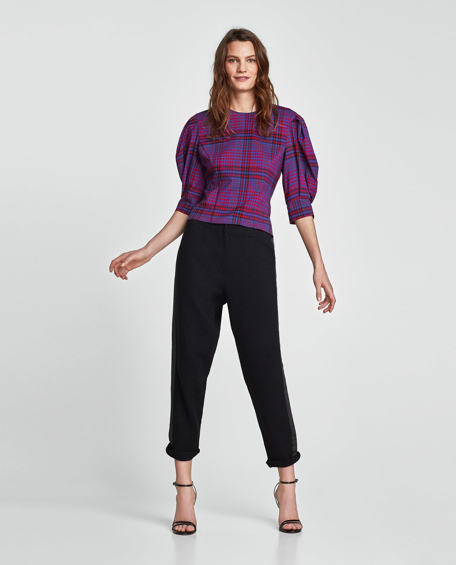 Pantaloni neri alla caviglia Zara collezione primavera estate 2018
