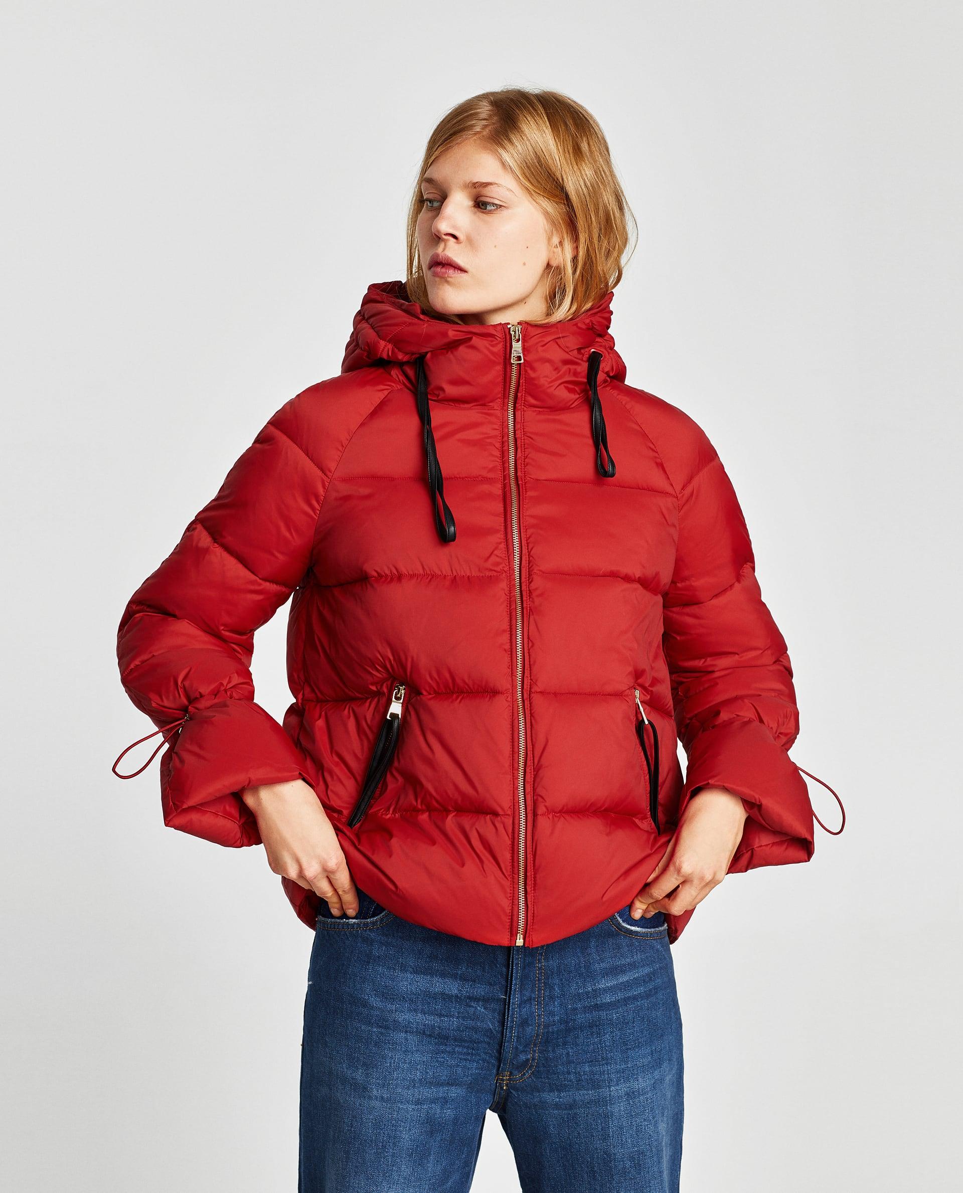 Piumino rosso Zara saldi invernali 2018