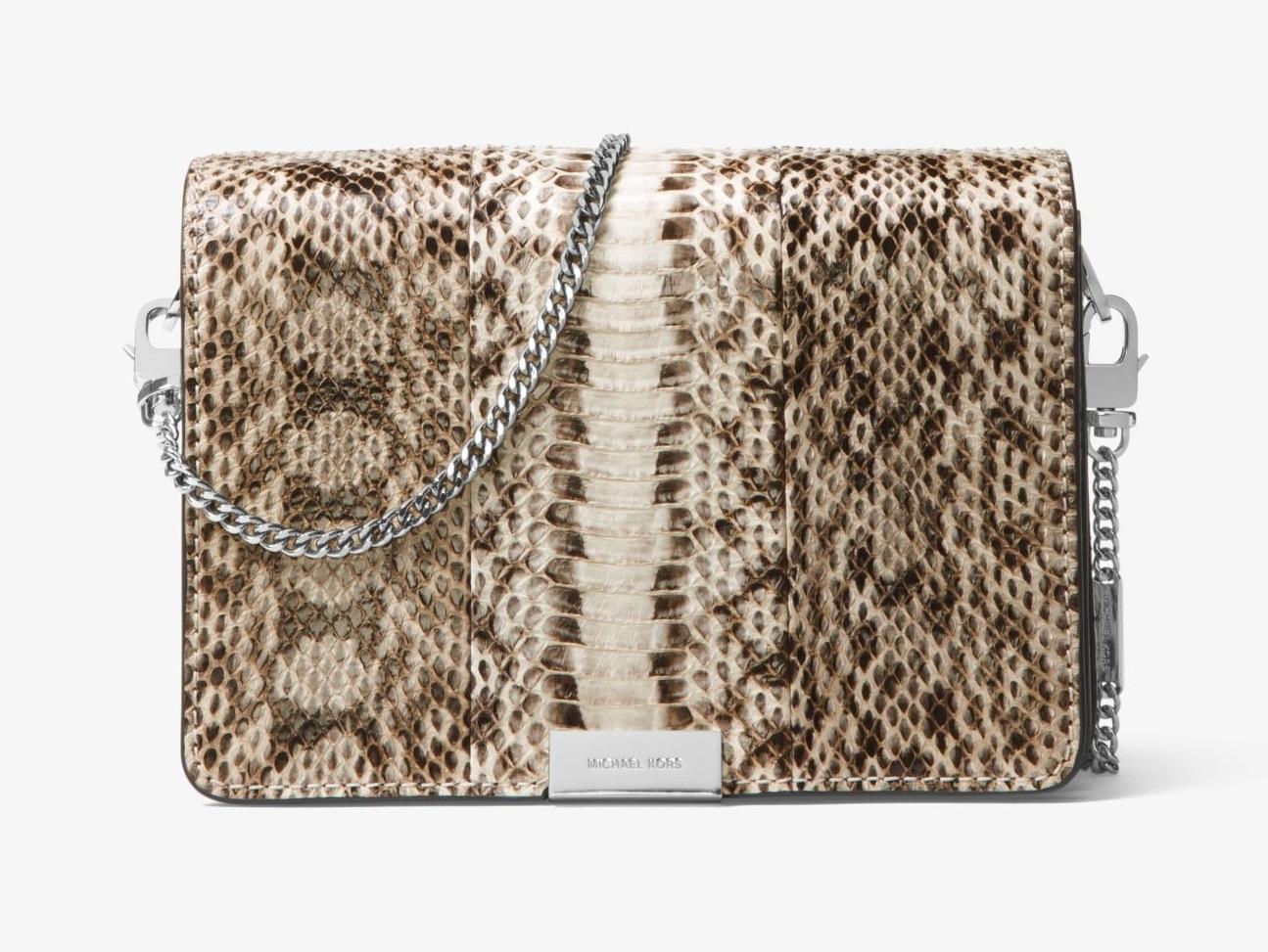 Pochette Jade Michael Kors in pelle di serpente collezione 2018