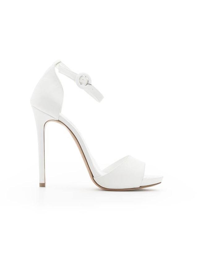 Sandali bianchi con cinturino Albano collezione 2018