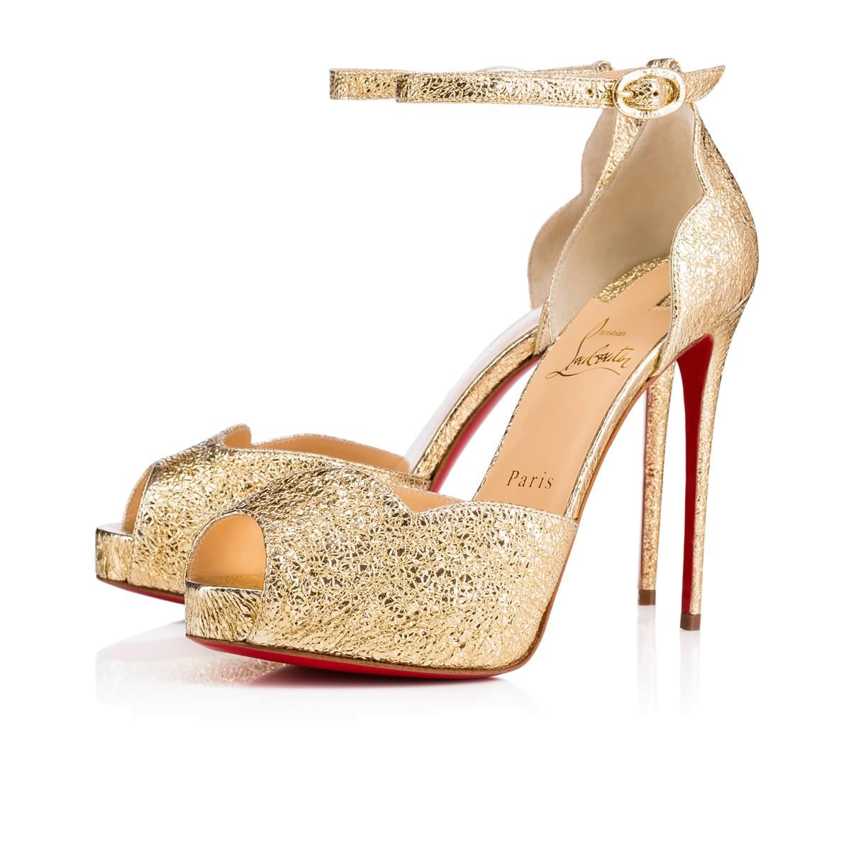 Sandali oro da sposa Christian Louboutin collezione 2018