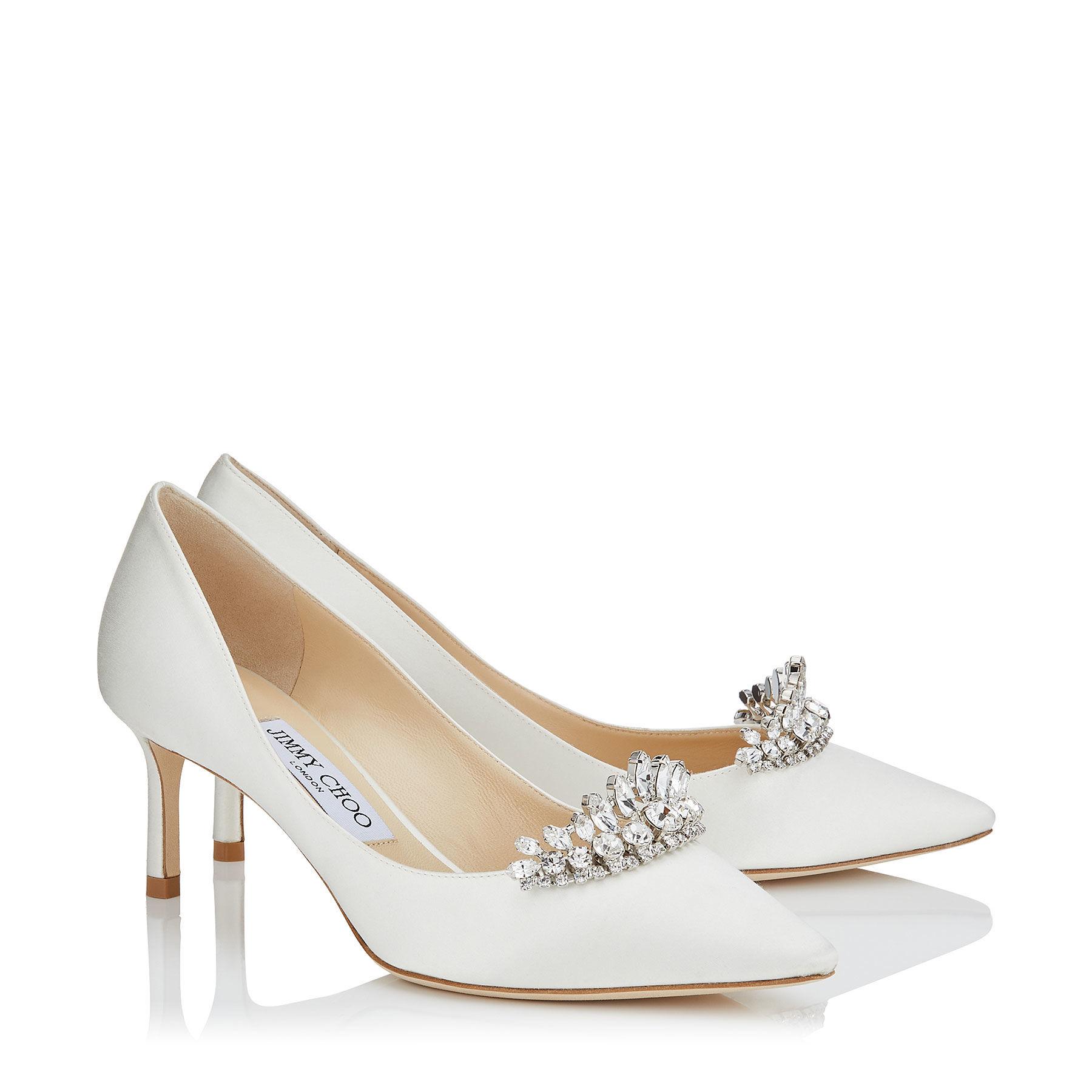 Scarpe da sposa gioiello a punta Jimmy Choo collezione 2018