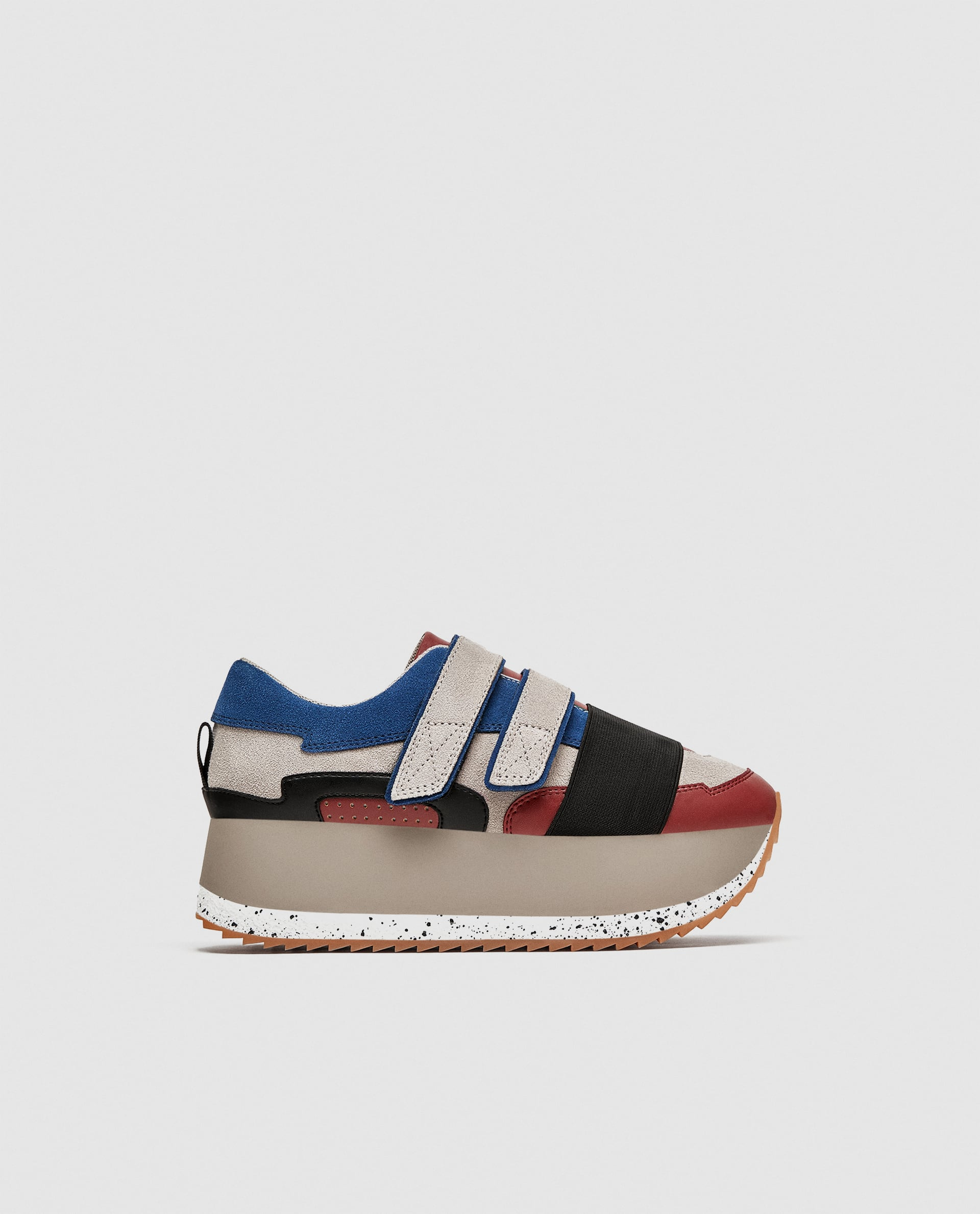 Sneakers alte in color block Zara