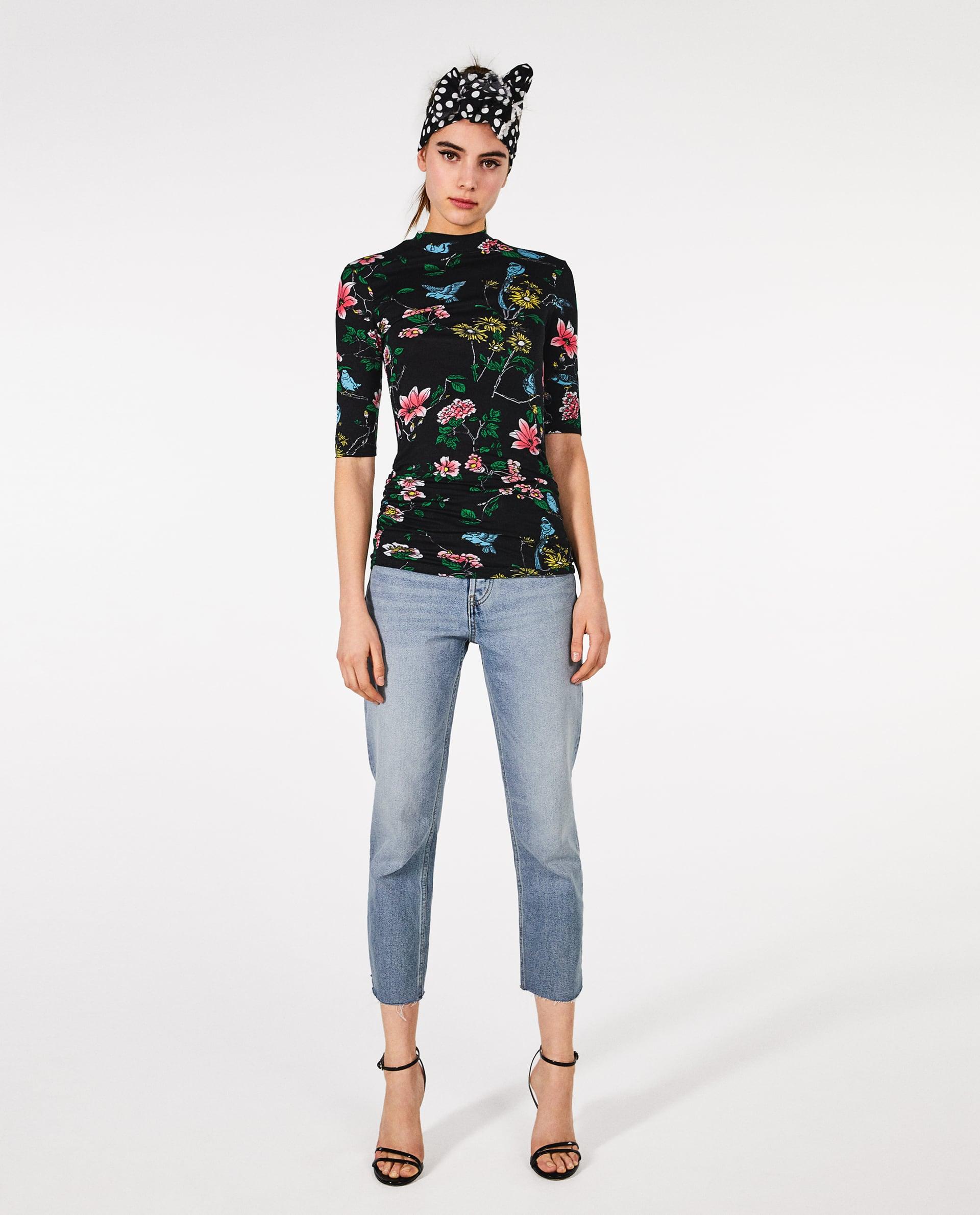 T shirt a fiori Zara collezione primavera estate 2018