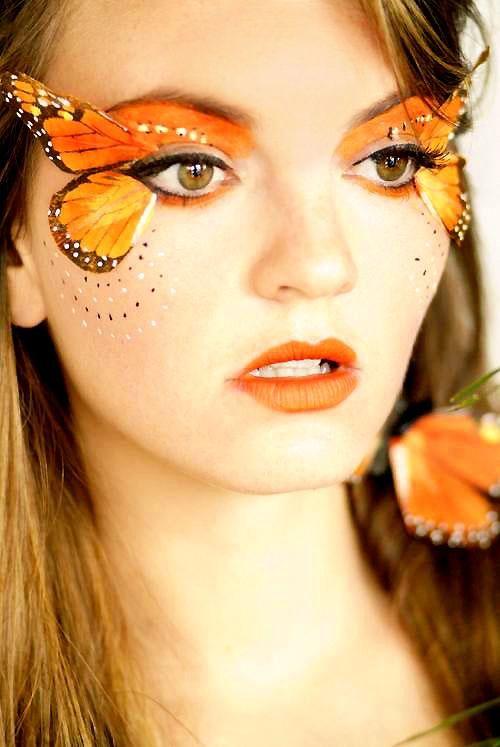 Trucco occhi carnevale farfalla tridimensionale