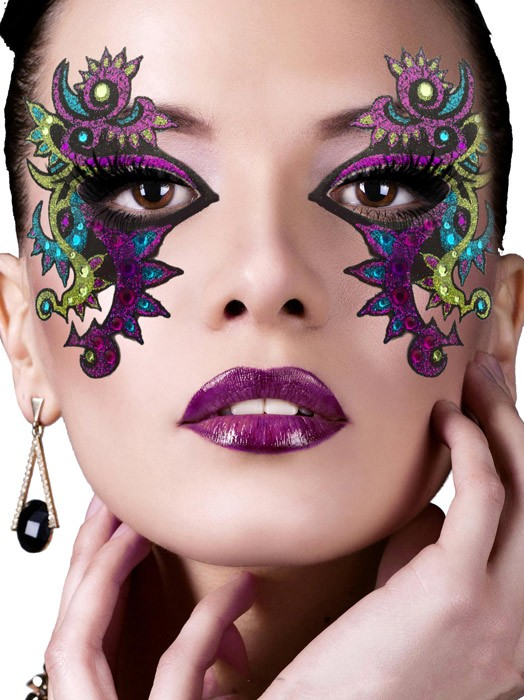 Trucco occhi maschera colorato carnevale