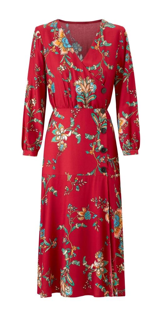 abito rosso a fiori Mango collezione primavera estate 2018