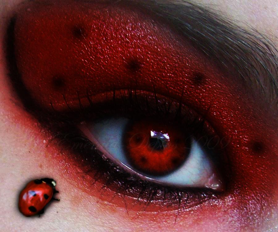 trucco occhi coccinella carnevale