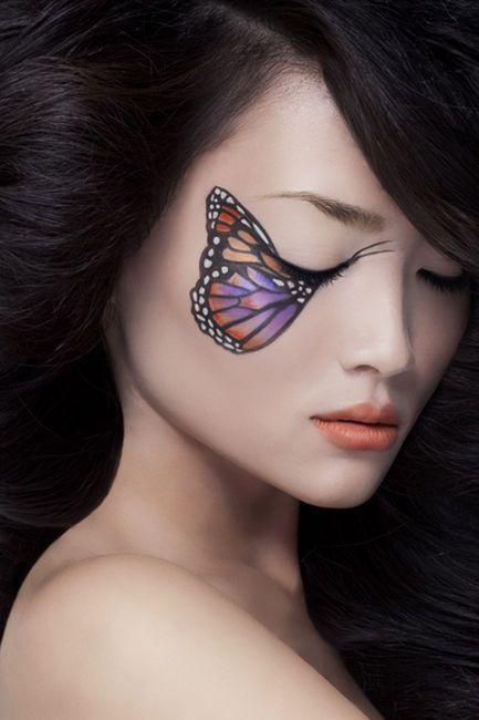 trucco occhi farfalla colorata carnevale