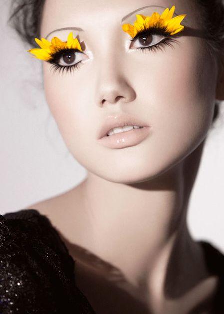 trucco occhi fiore carnevale