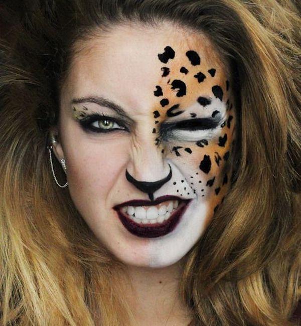trucco viso leopardo carnevale