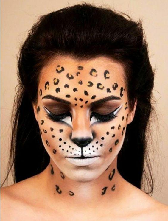 trucco viso leopardo per carnevale