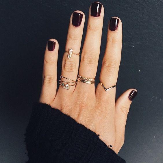 unghie gel rouge noir