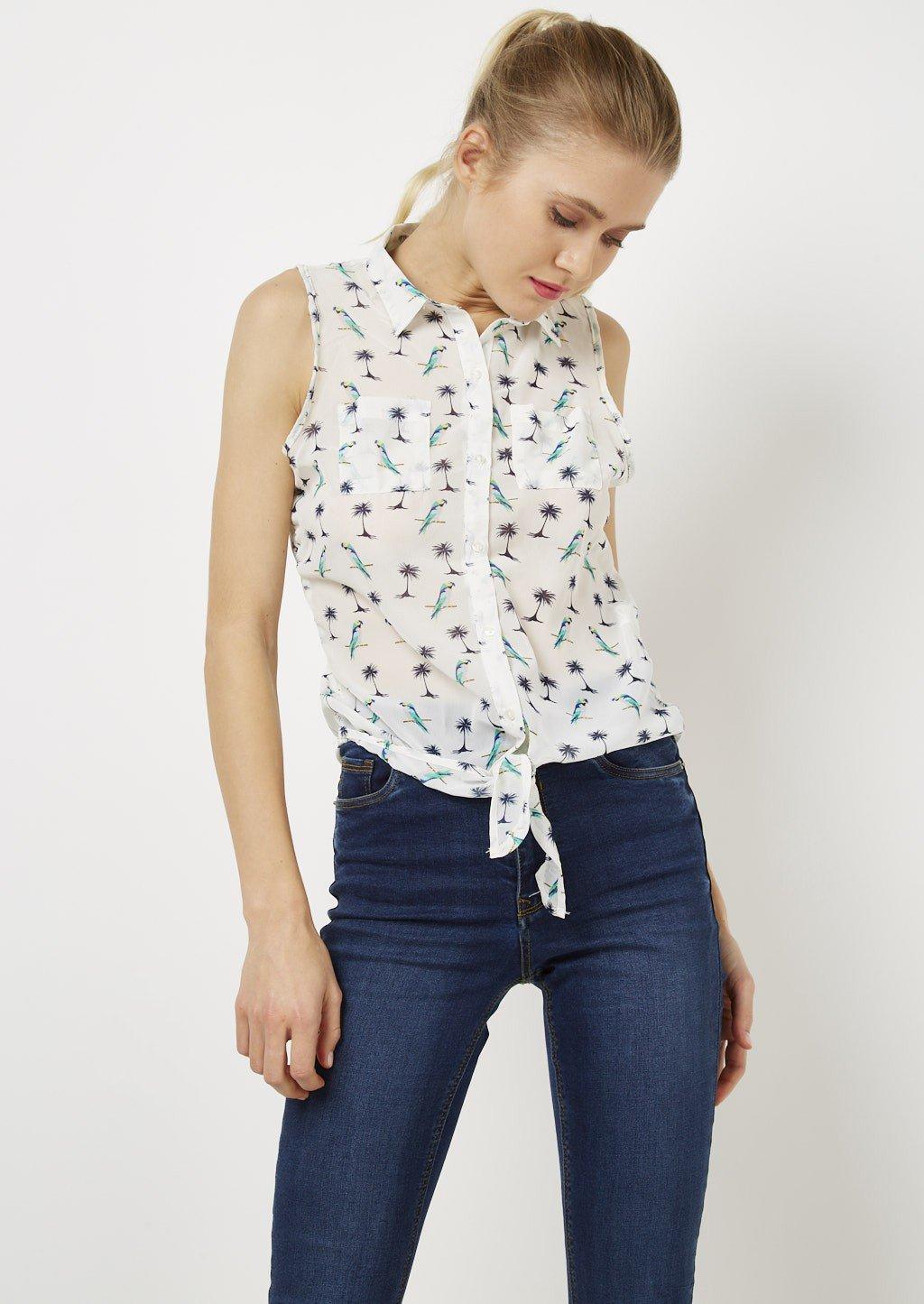 Camicia con nodo in vita Alcott collezione primavera estate 2018